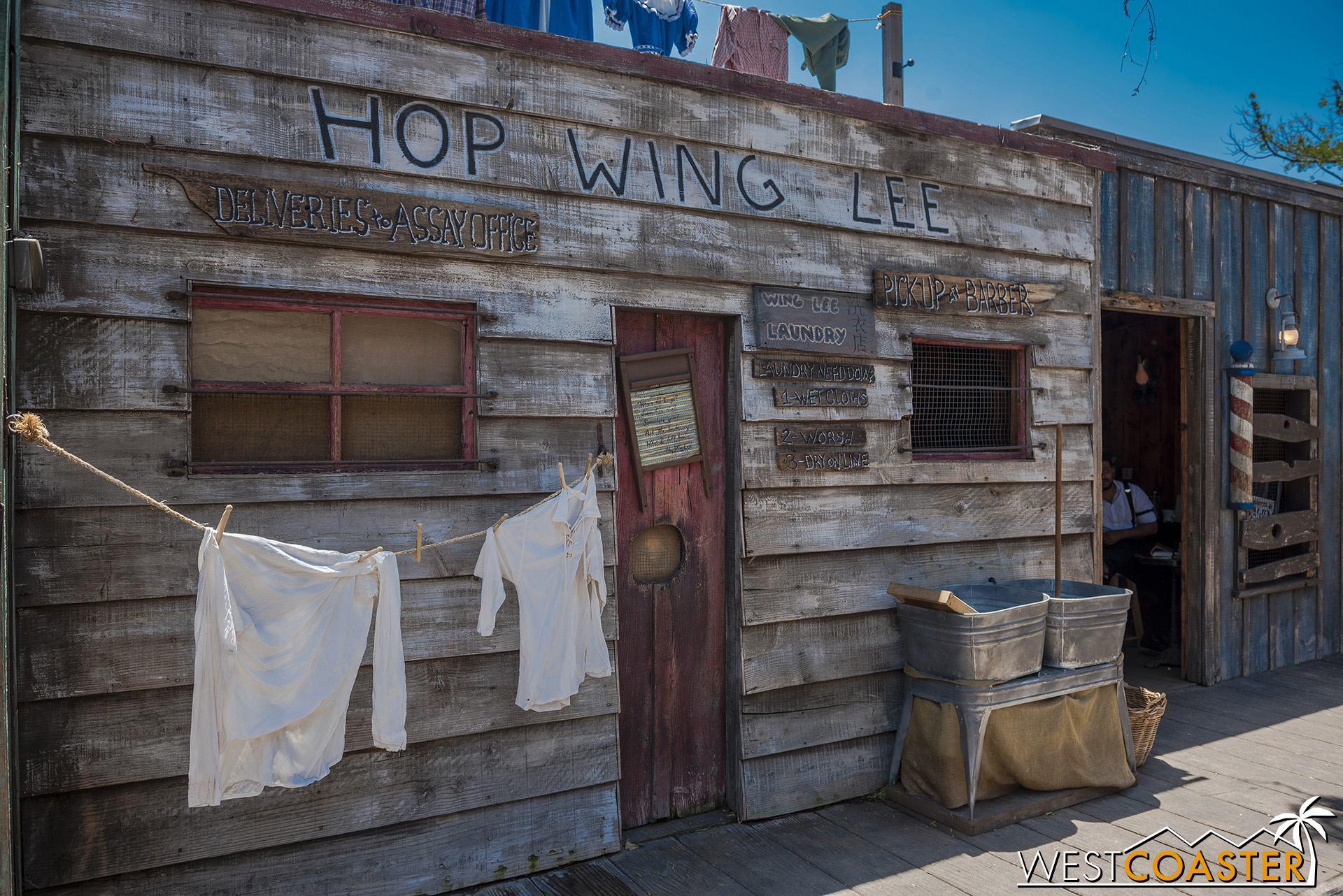 Except for Hop Wing Lee's.  The town laundromat is once again closed despite the fortunes at the end of last season.