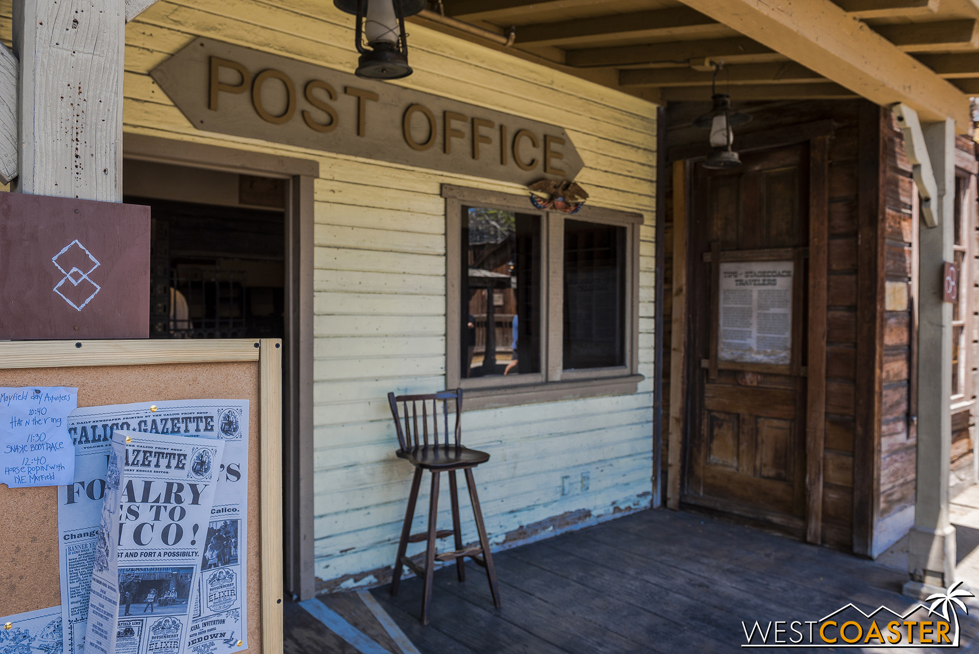 The Post Office is a popular hangout for local townspeople.