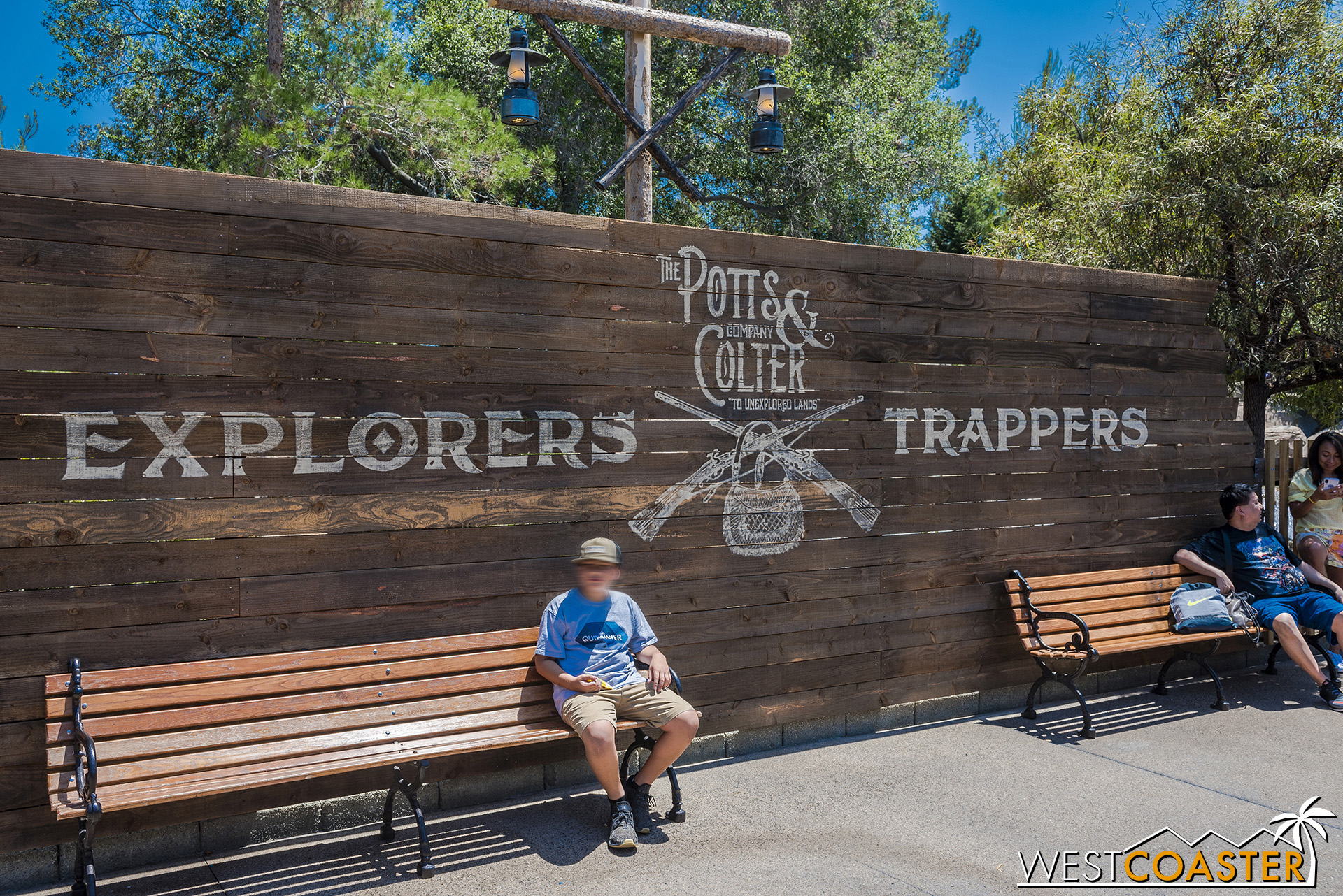 Potts & Colter lend their names to this sign over by Calico River Rapids.  Though no actual Ghost Town Alive! activities take place here, Potts & Colter are actual characters in this year's iteration of GTA!