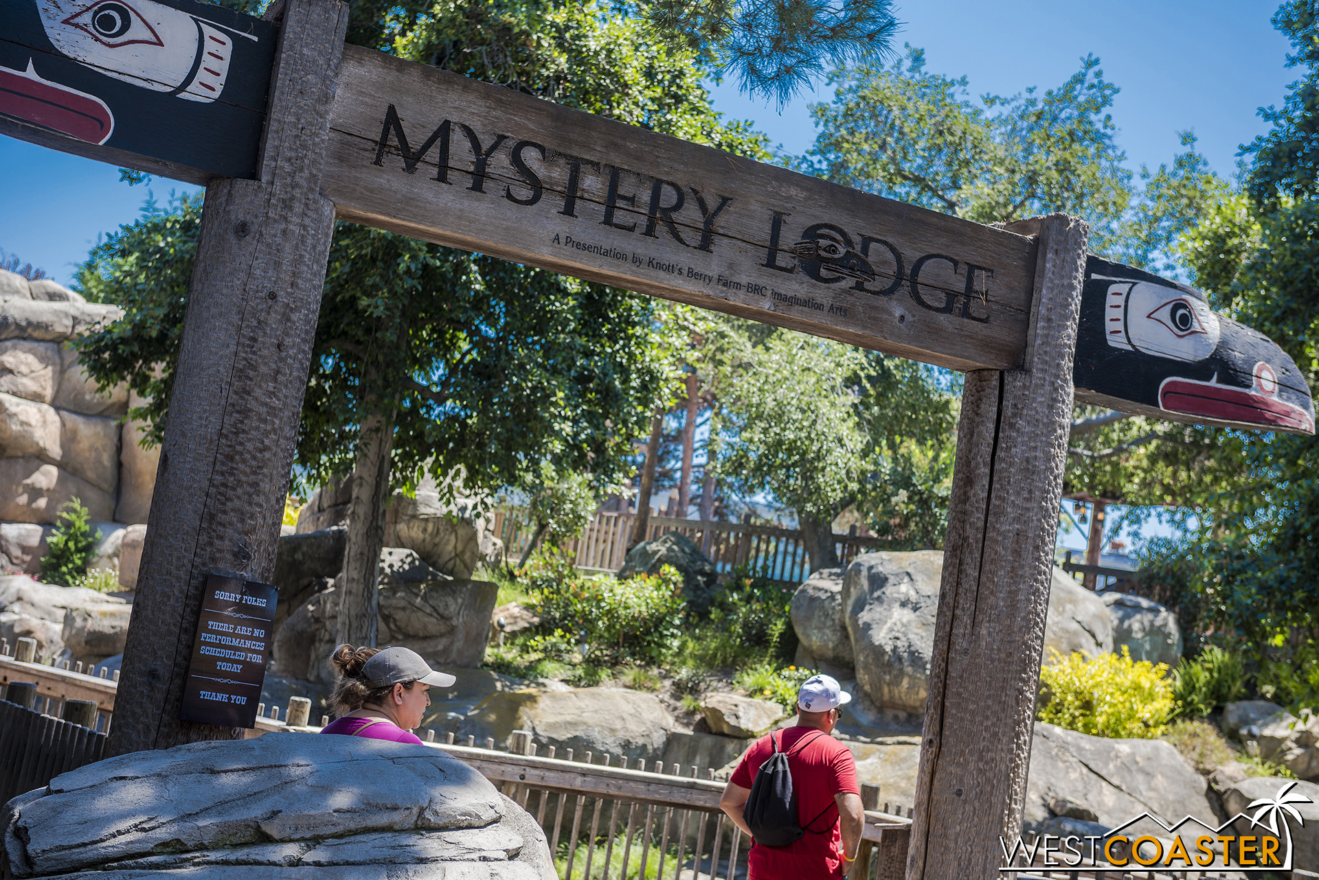 Speaking of mysterious things… Mystery Lodge has been closed indefinitely all summer.  Could it become the site of the new fort that the U.S. Cavalry is looking to build?
