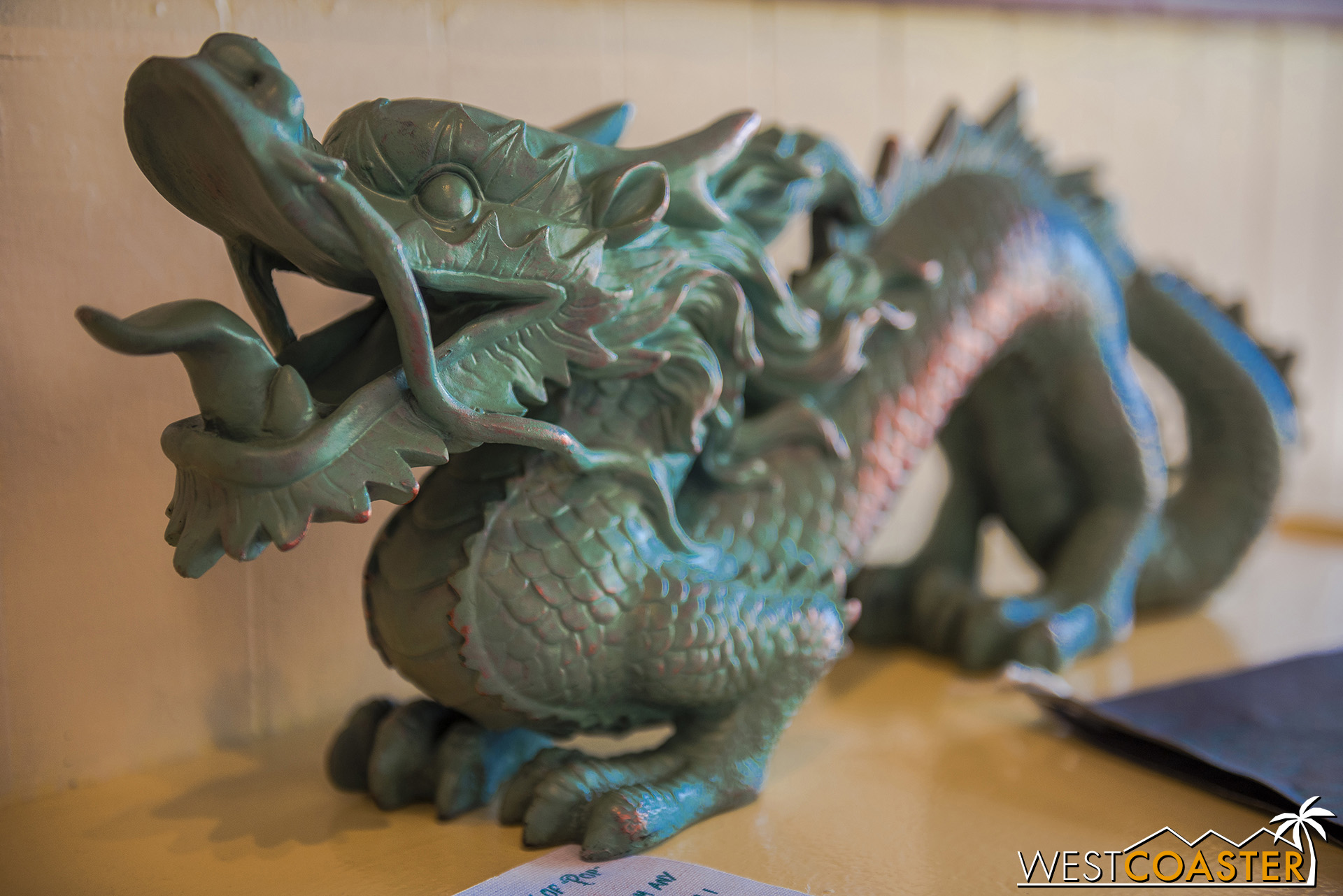 it's become a bit of a scavenger hunt to find out where to place the jade dragon, Pop Wing Lee's most prized possession.