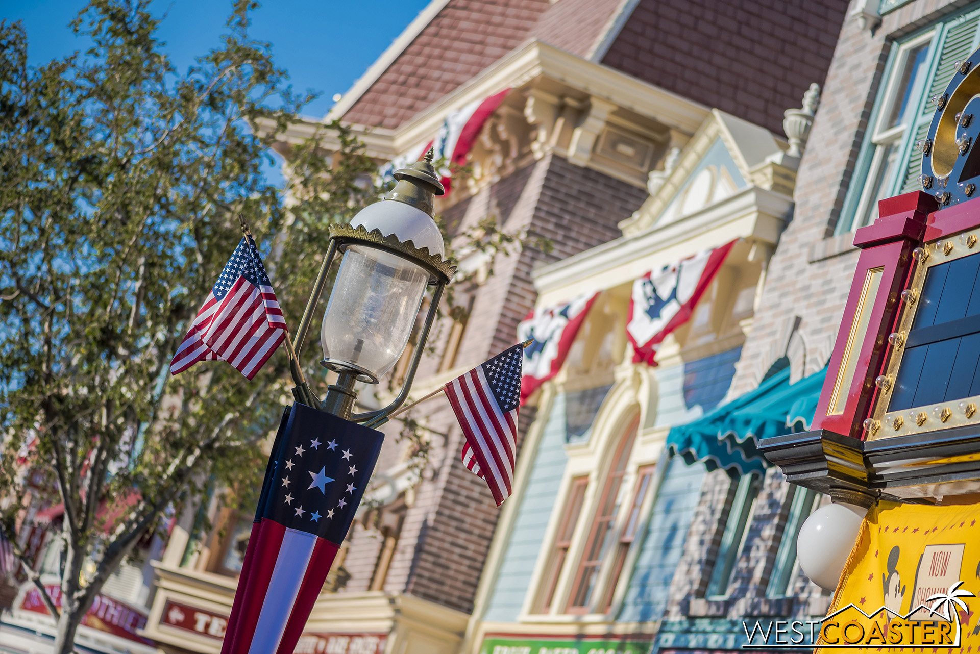 Main Street has its stars and stripes too.