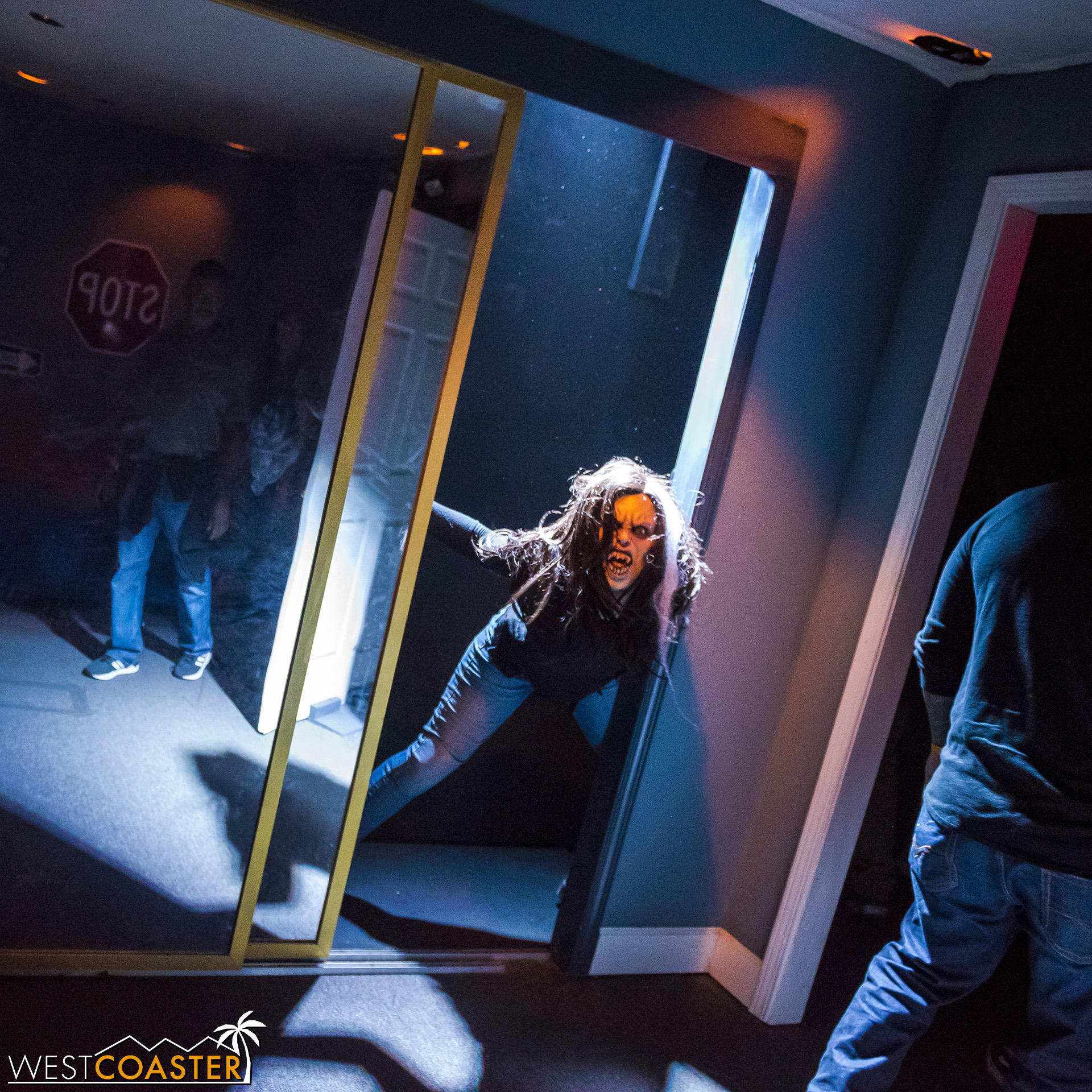 The closet: an always-reliable boo box for Horror Nights mazes.