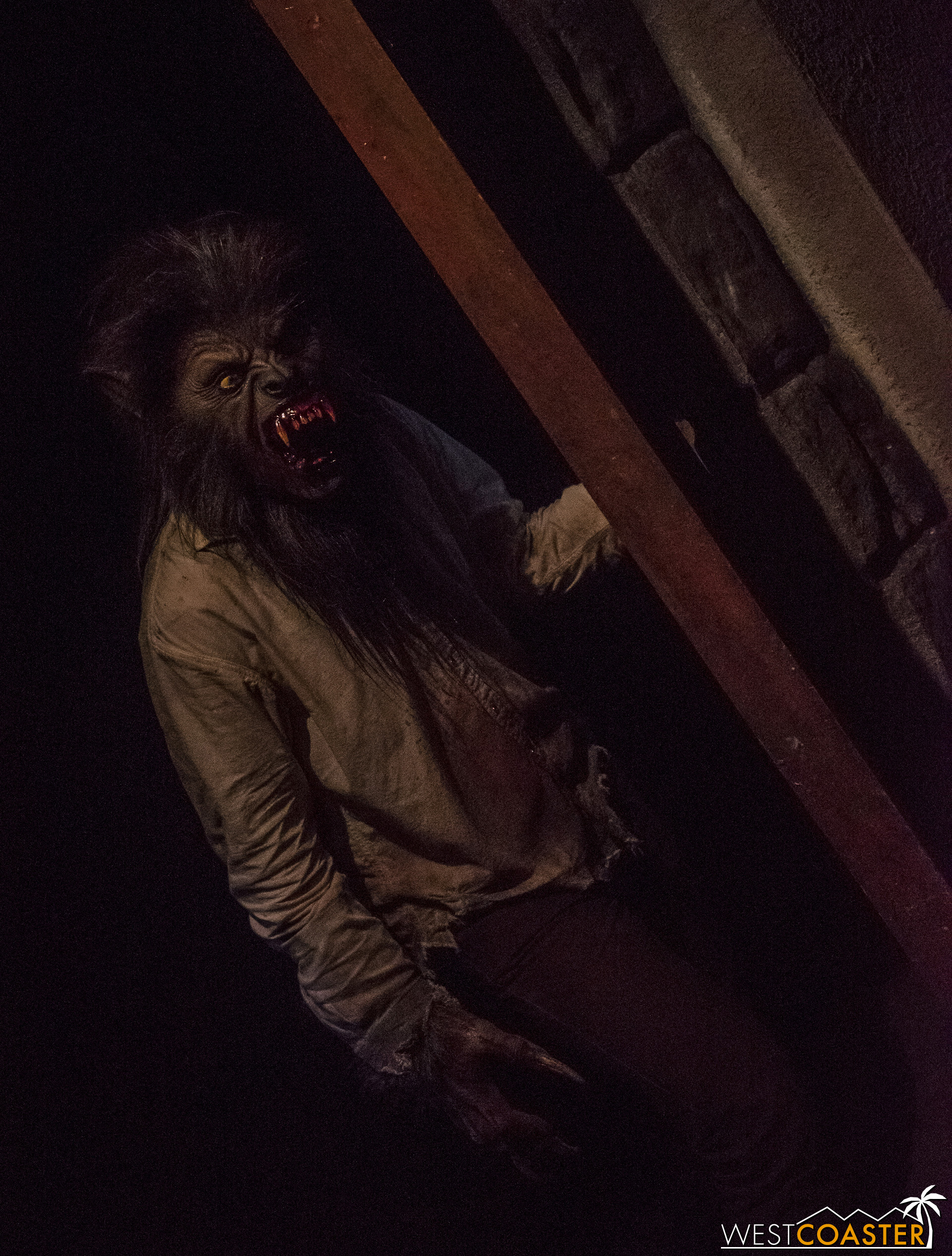 The Wolfman lurks in the shadows.