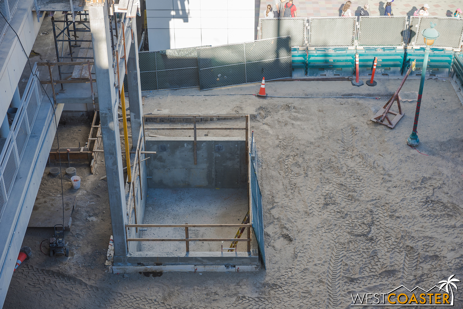 Here's the elevator pit.