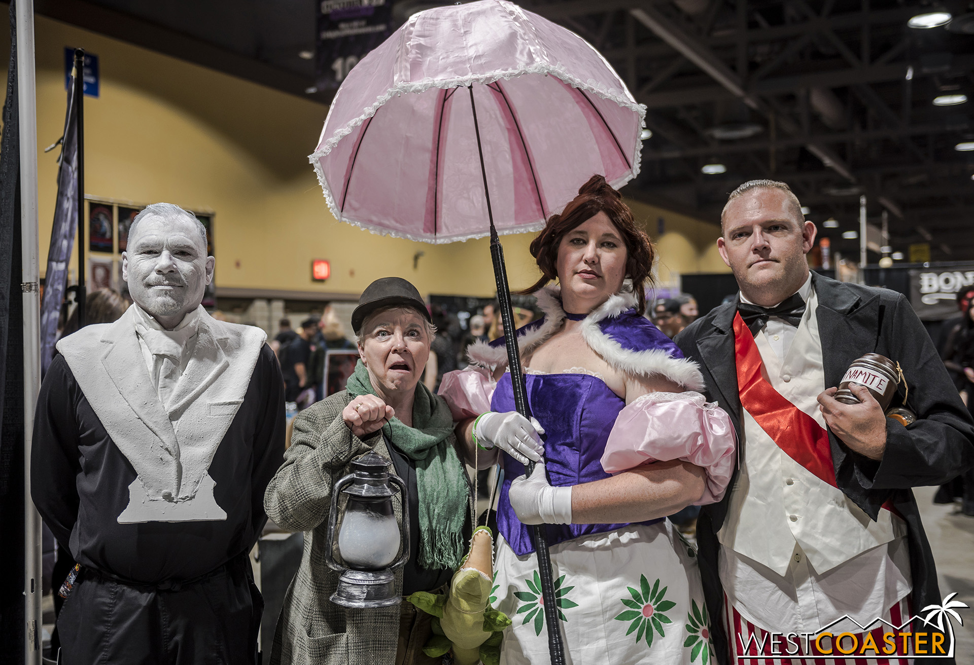 This Haunted Mansion quartet was among many celebrating the Haunted Mansion 50th Anniversary in style!