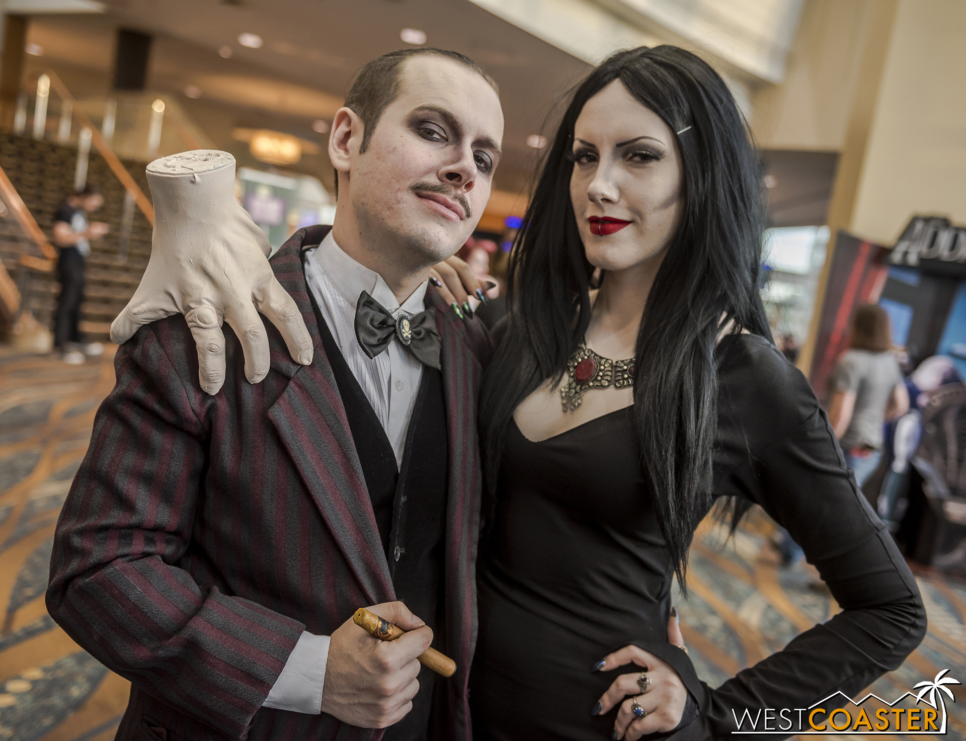 This Gomez and Morticia were stunning.