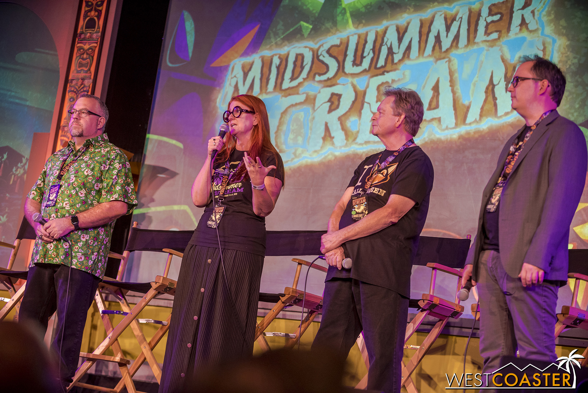 Left to right, Creative Director, Rick West; Supervising Producer, Claire Dunlap; Executive Producer, Gary Baker; and Executive Director, David Markland.