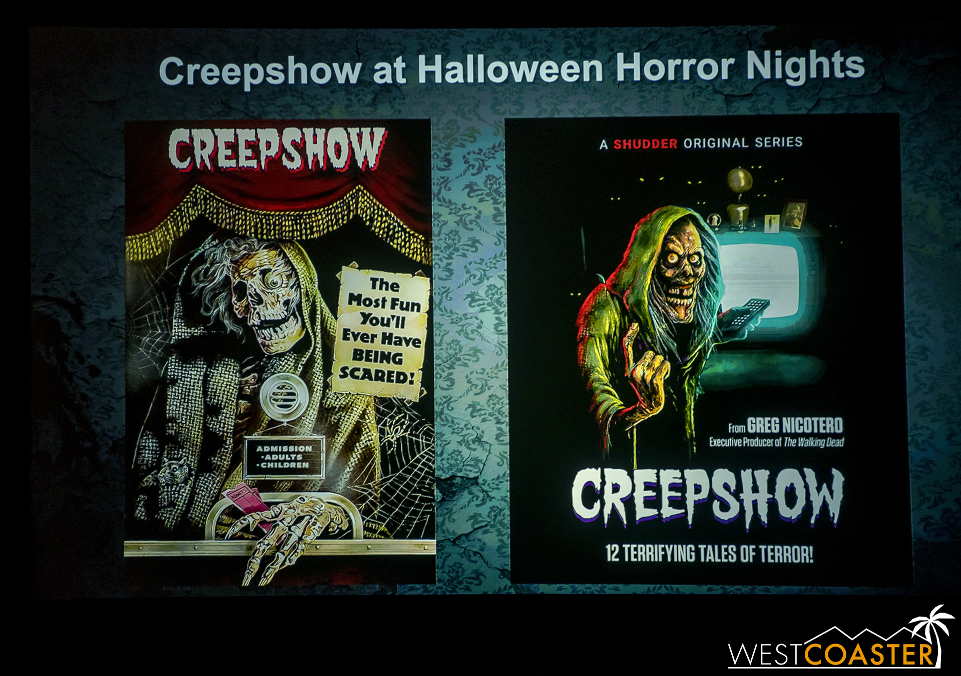 The big announcement right off the bat: the event's sixth new maze of the season, Creepshow!