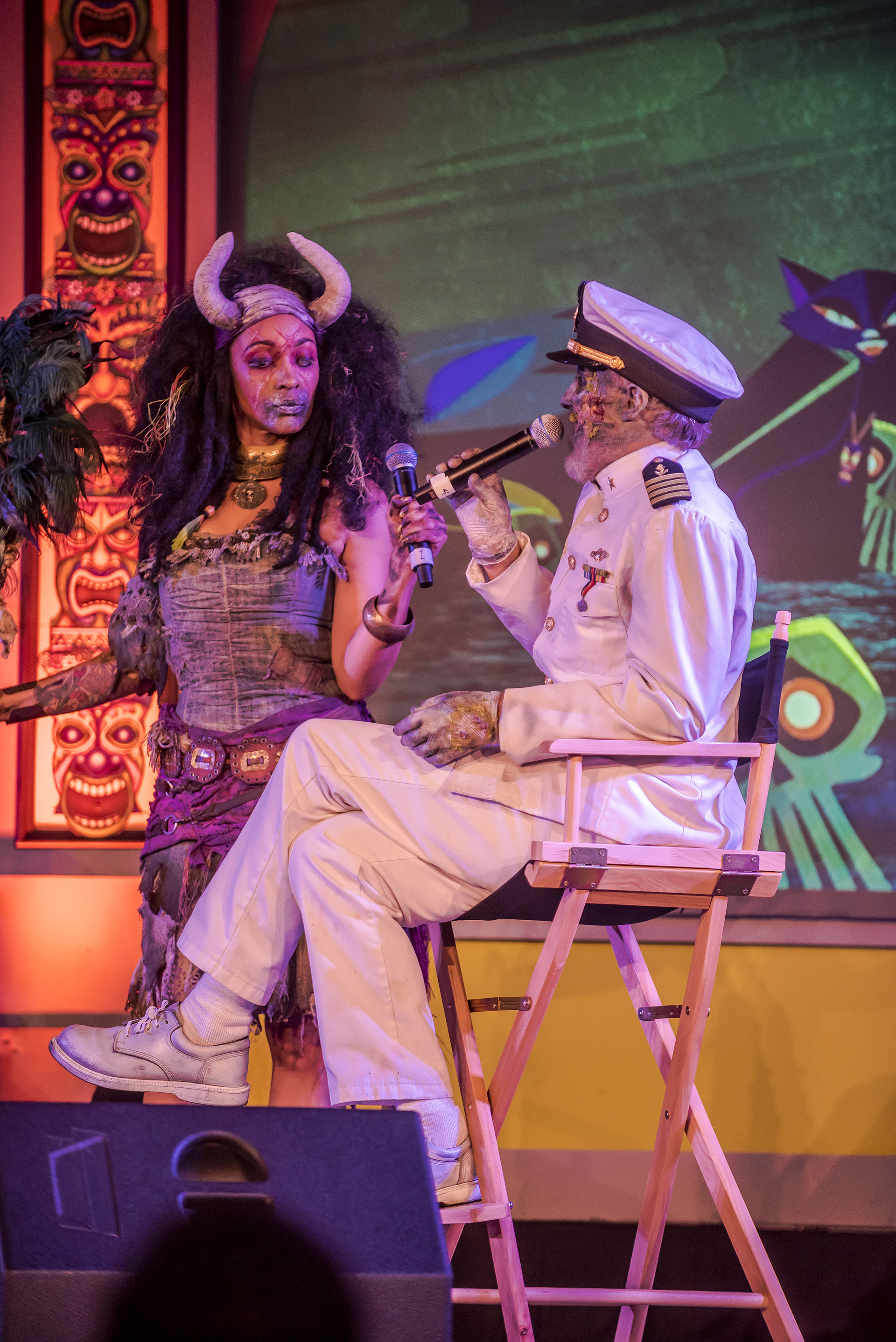 The Voodoo Priestess, aka Mambo Cécile, gave the Captain an offer that he may or may not refuse.
