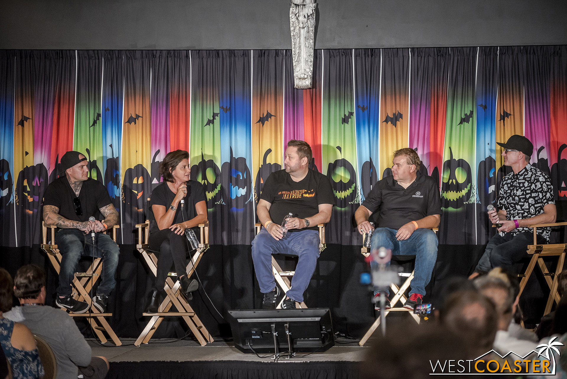Left to right, Creative Director, Jon Cooke; L.A. Haunted Hayride Creator, Melissa Carbonne; Thirteenth Floor Entertainment CEO, Chris Stafford; Thirteenth Floor Entertainment Director of Operations, Warren Conard; and Writer/Director, Ted Dougherty.