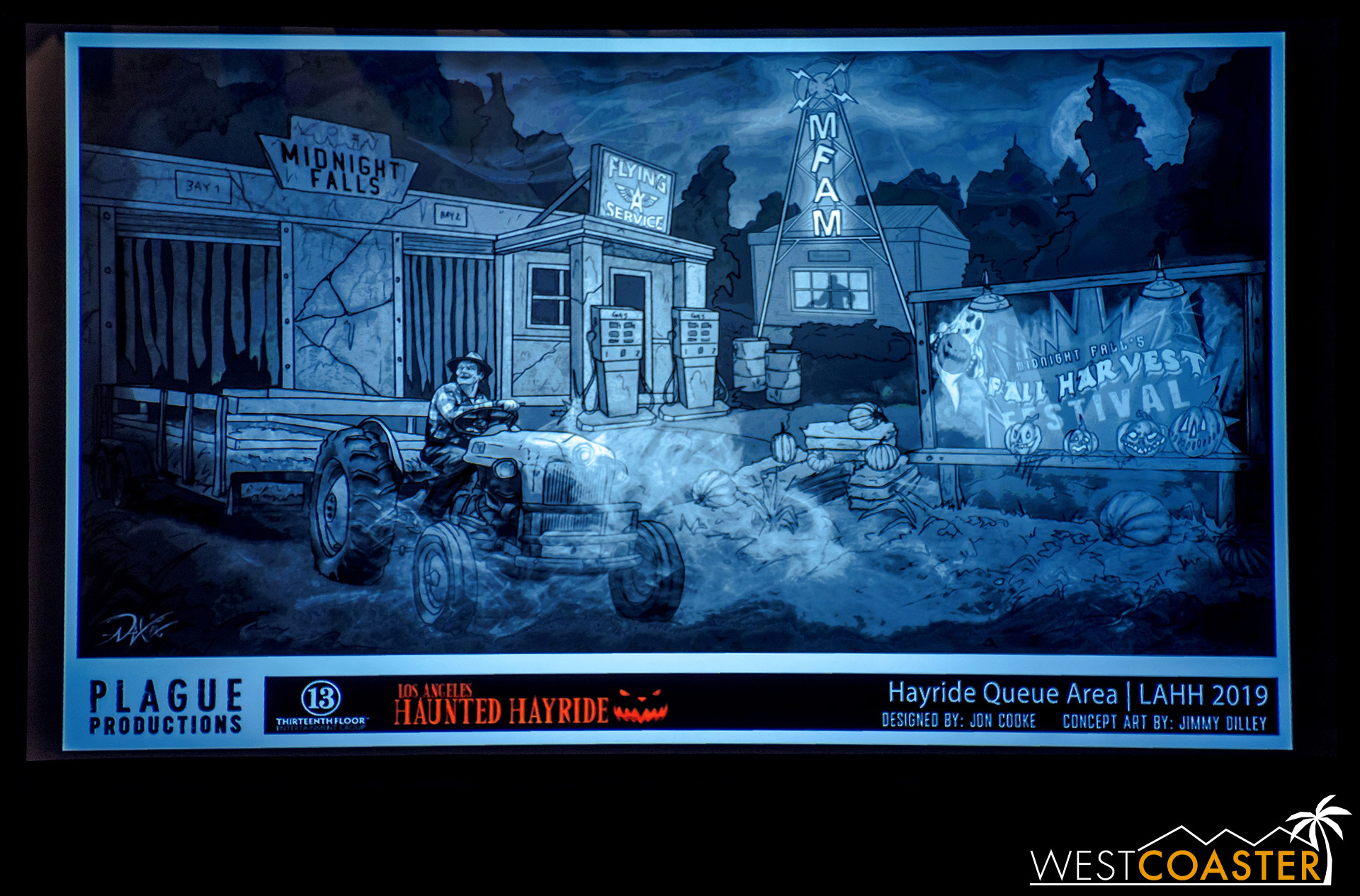 Some of the concept art for this year's L.A. Haunted Hayride.