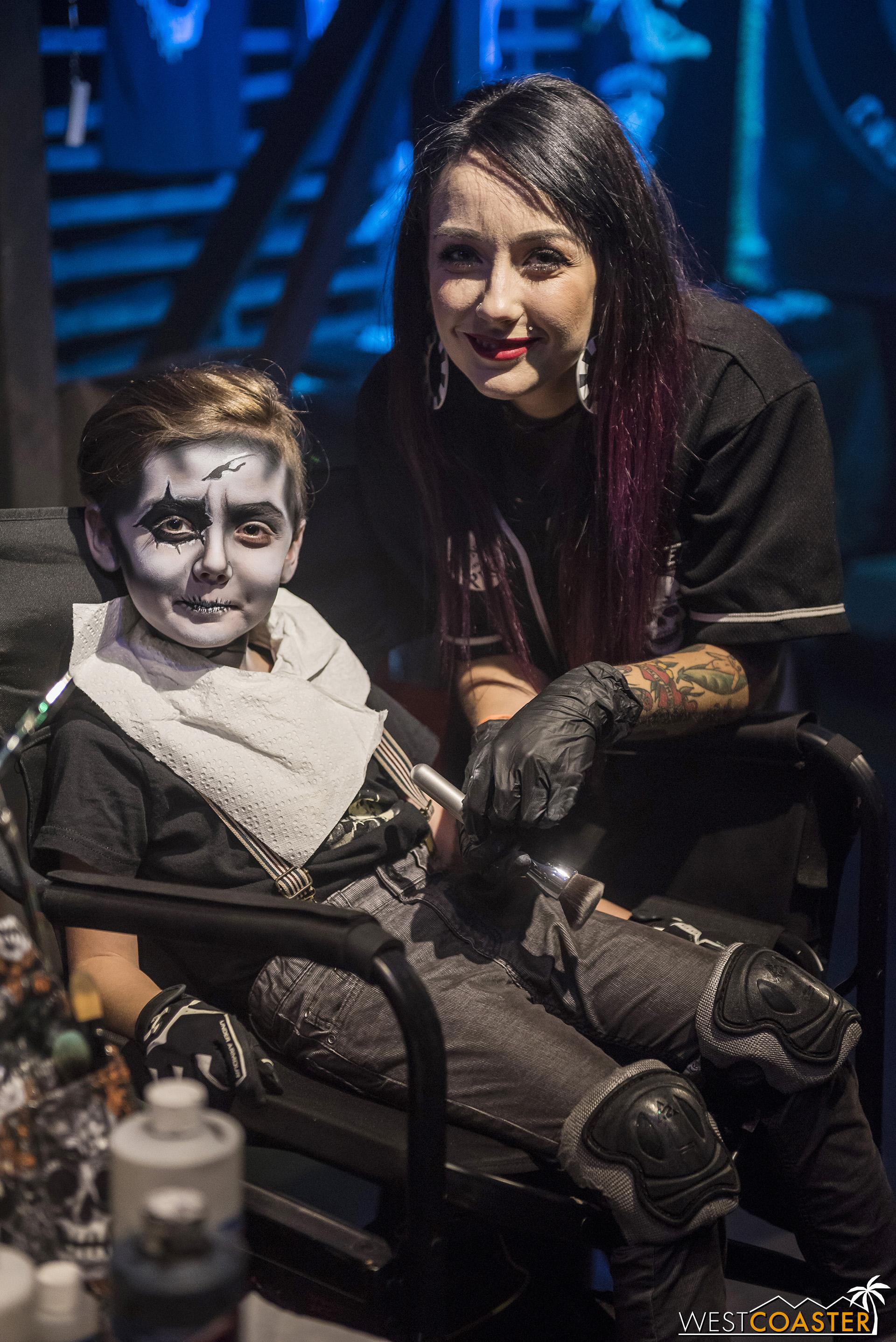 Makeup artist,   Nicole Moroni  , with her adorable kid.