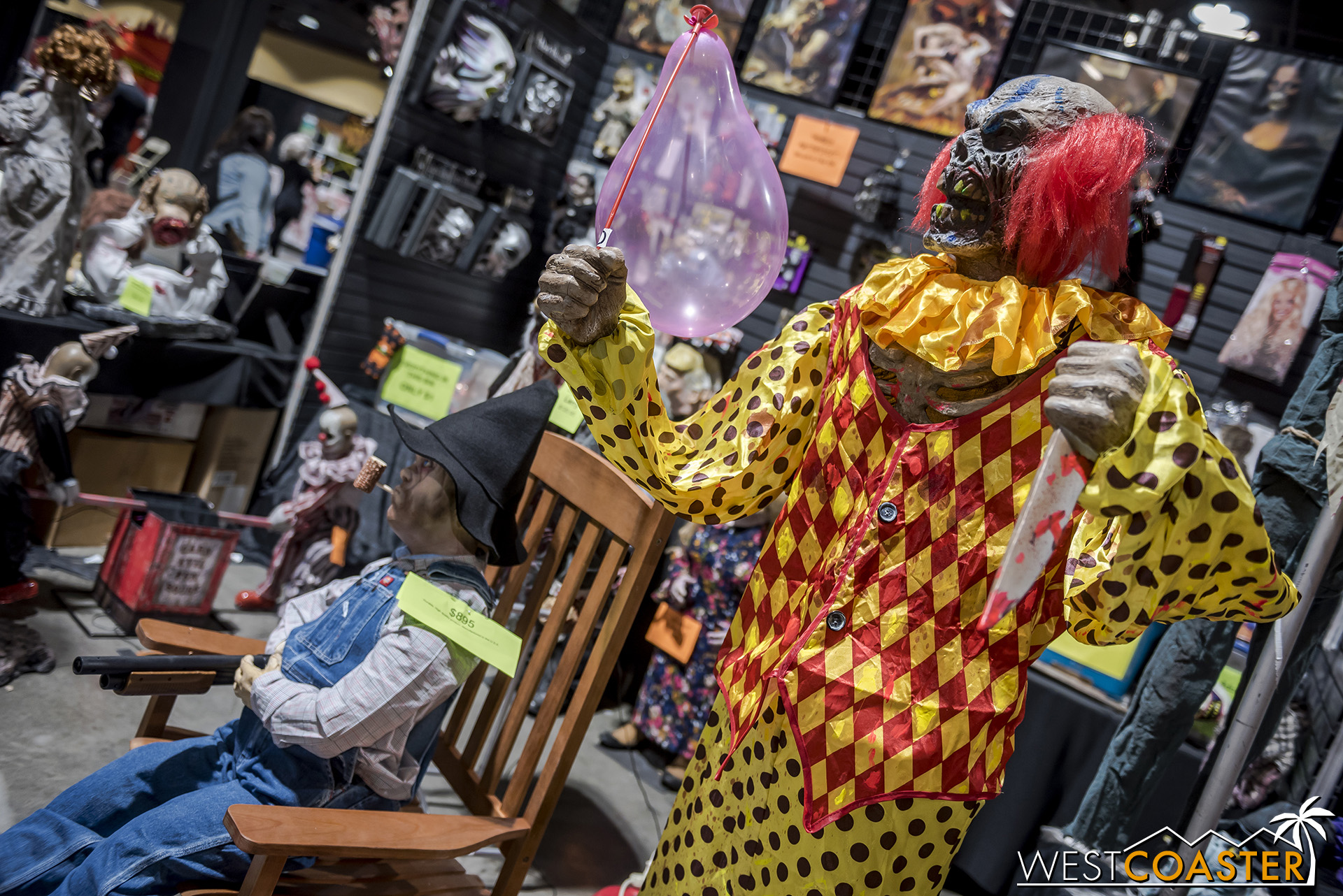 Looking for gory props? Midsummer Scream had plenty of them.