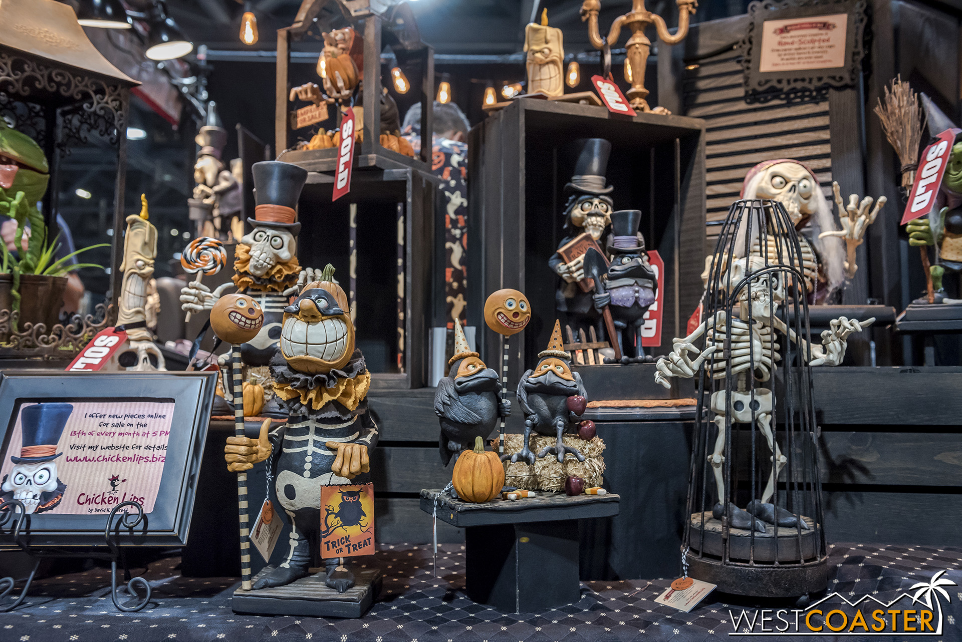 There were so many fun and creative Halloween decorations and theming bits for sale.