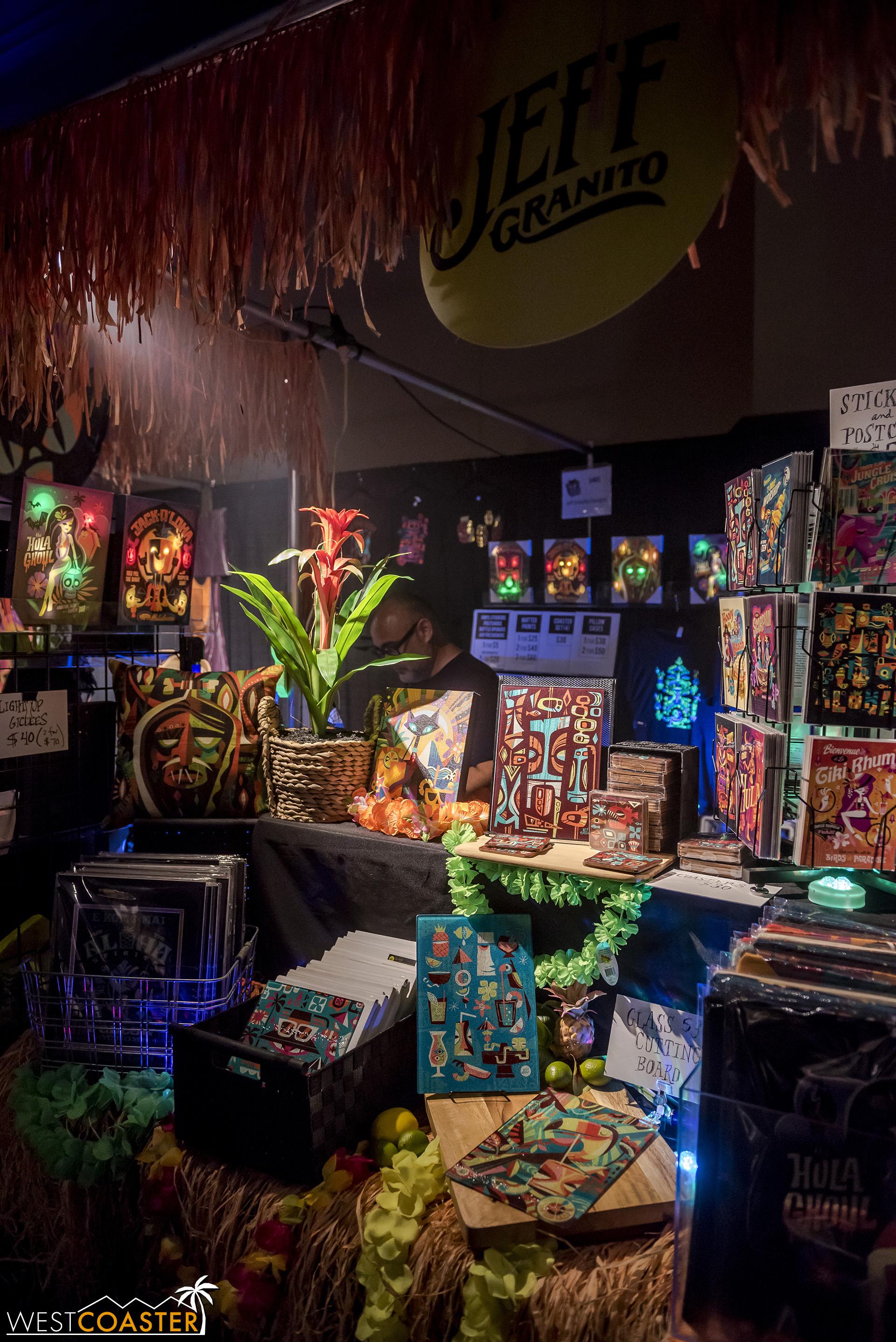 Tiki artist,  Jeff Granito , had a booth of his fantastic work at Midsummer Scream.