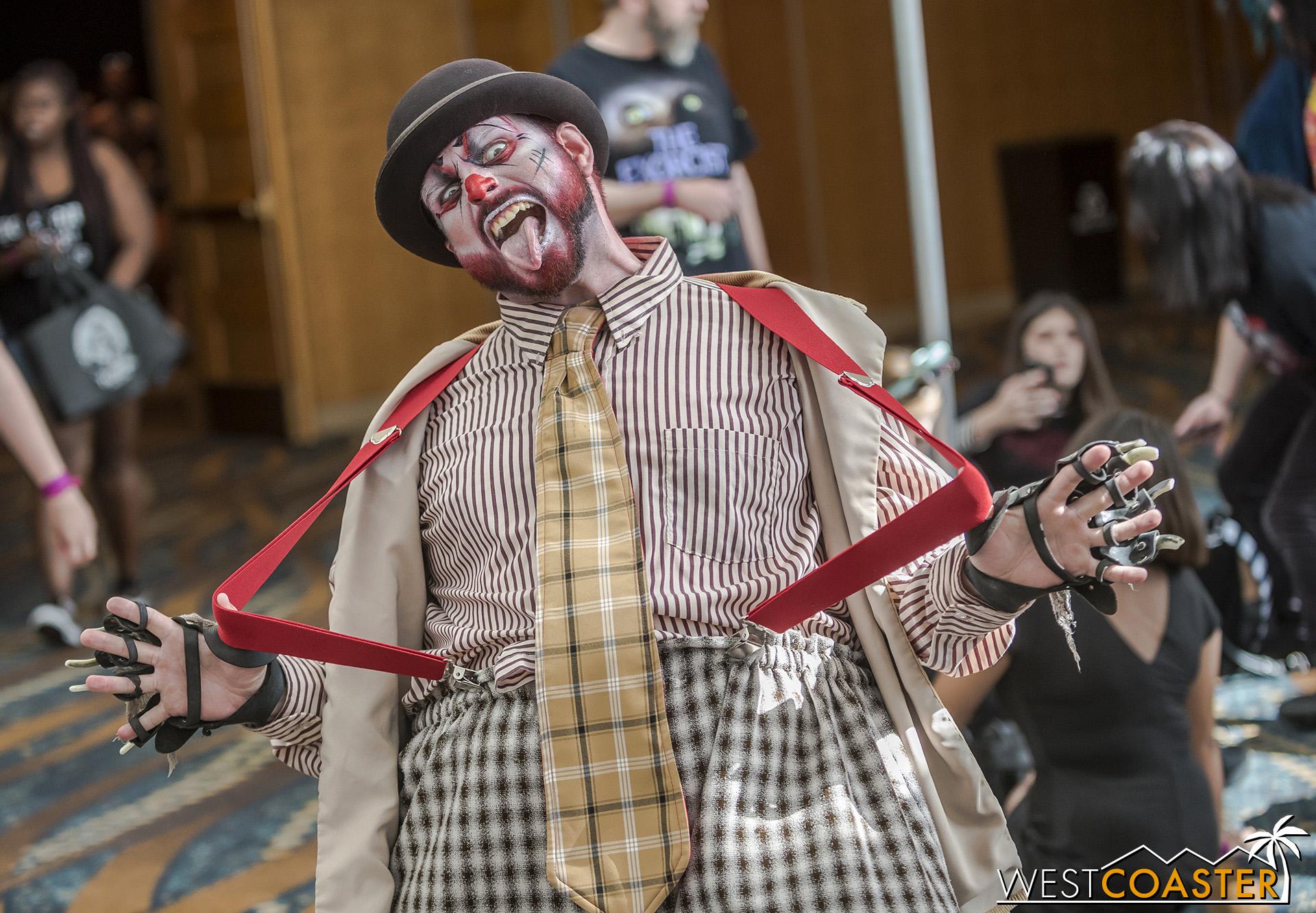 Great pose, clown!