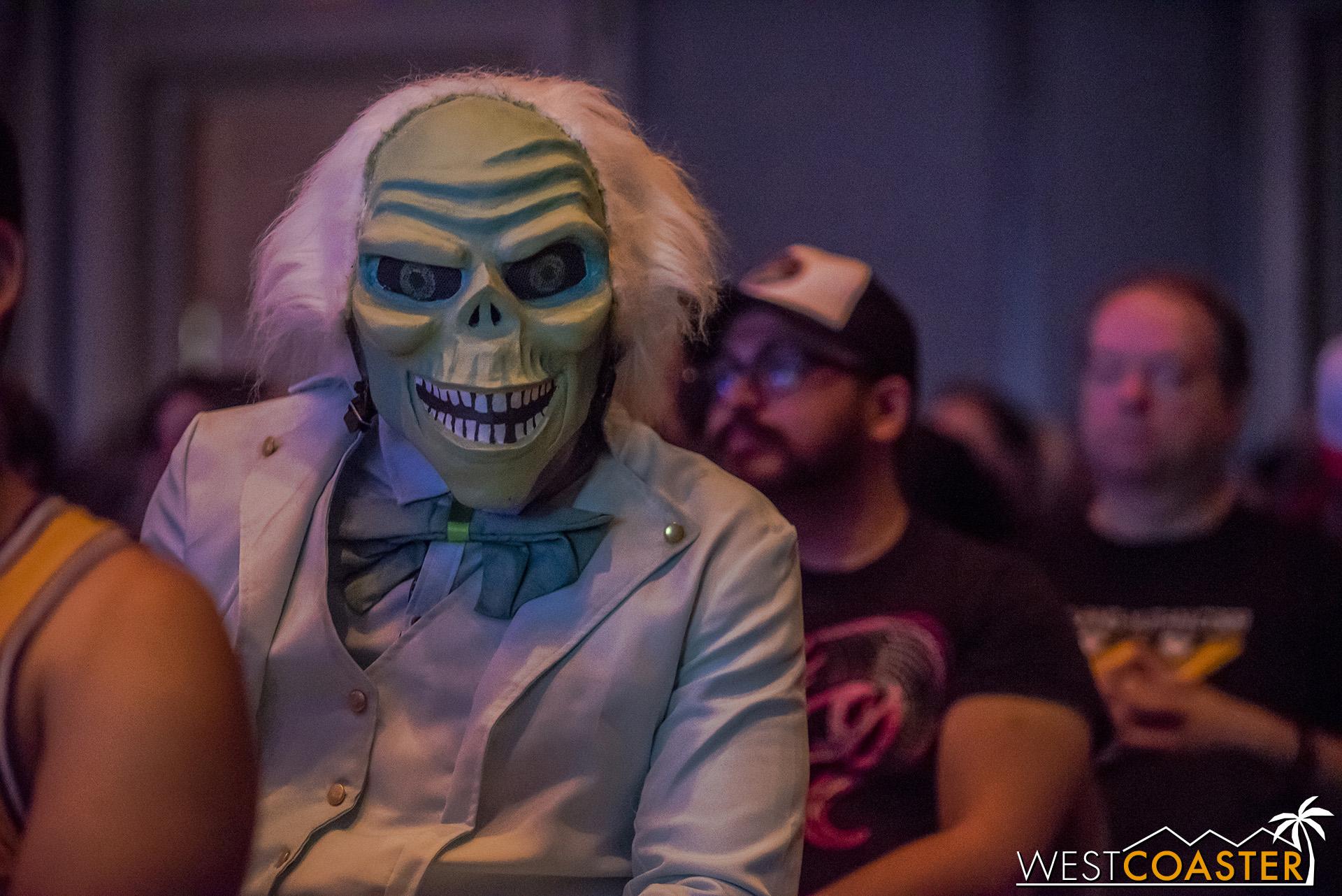 This Haunted Mansion phantom was just chilling at Midsummer Scream.