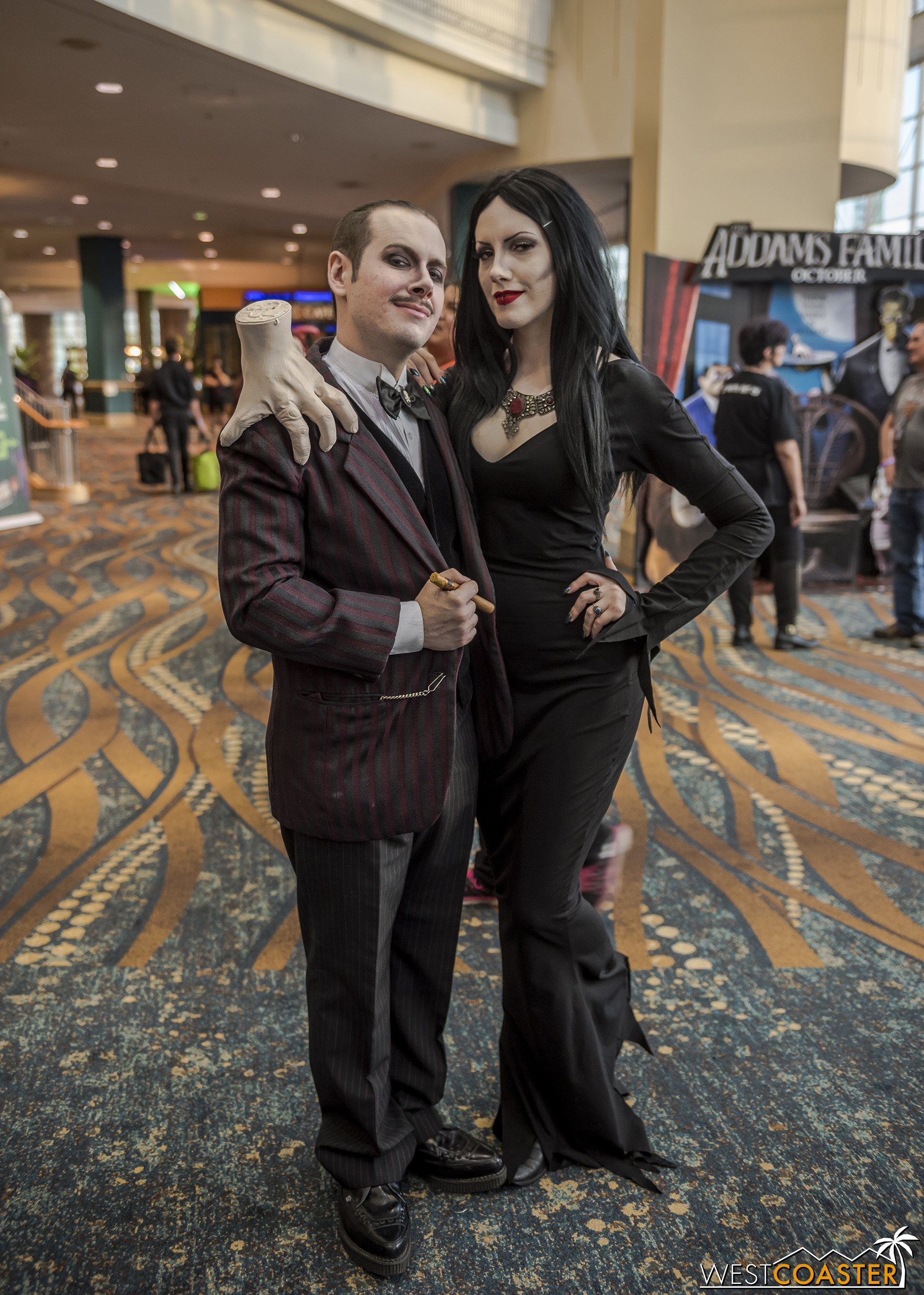 This amazing Gomez and Morticia were elegantly spectacular.