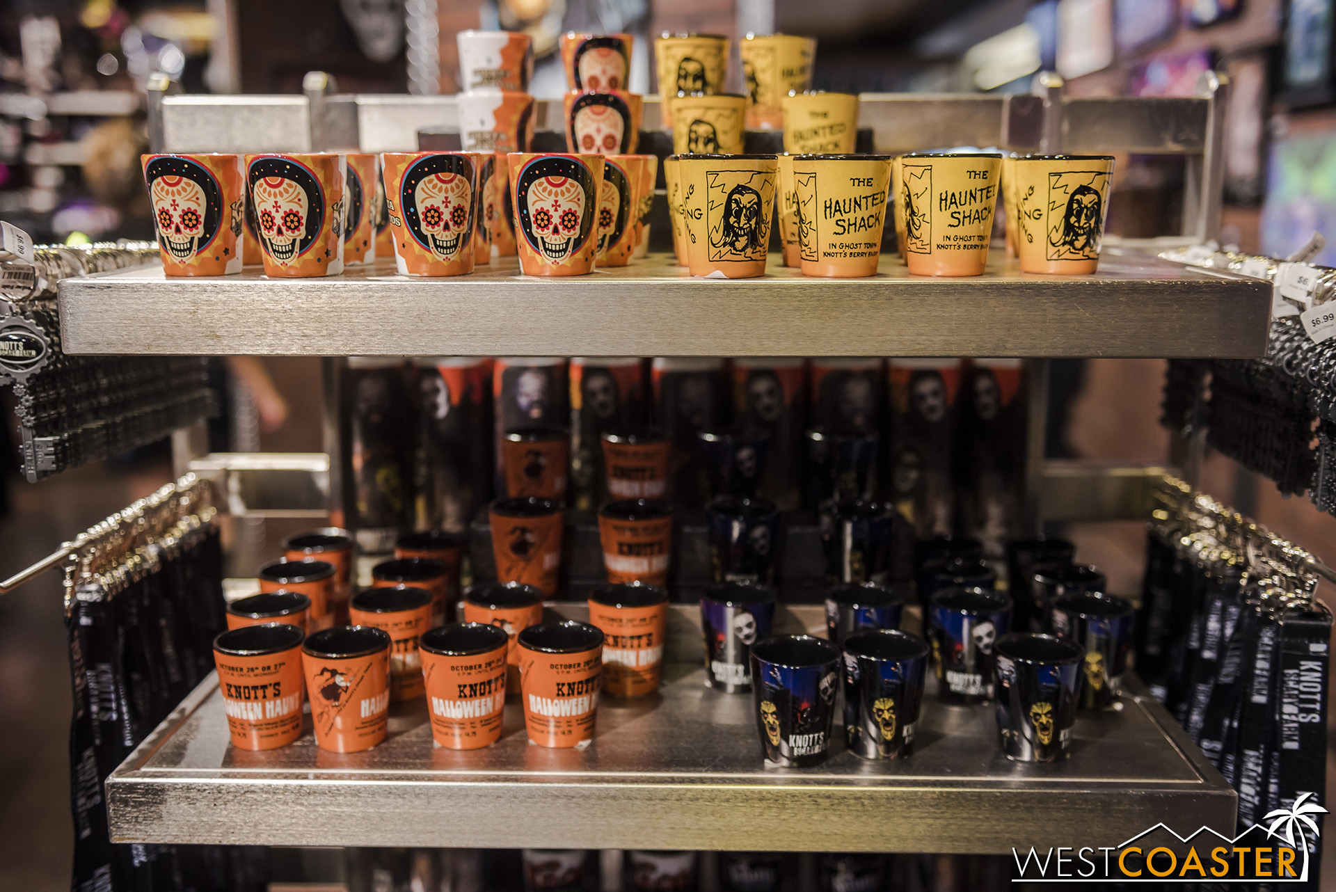 Buy a shot glass at Knott's, then double dip and use it at one of Dark Harbor's 287 bars!