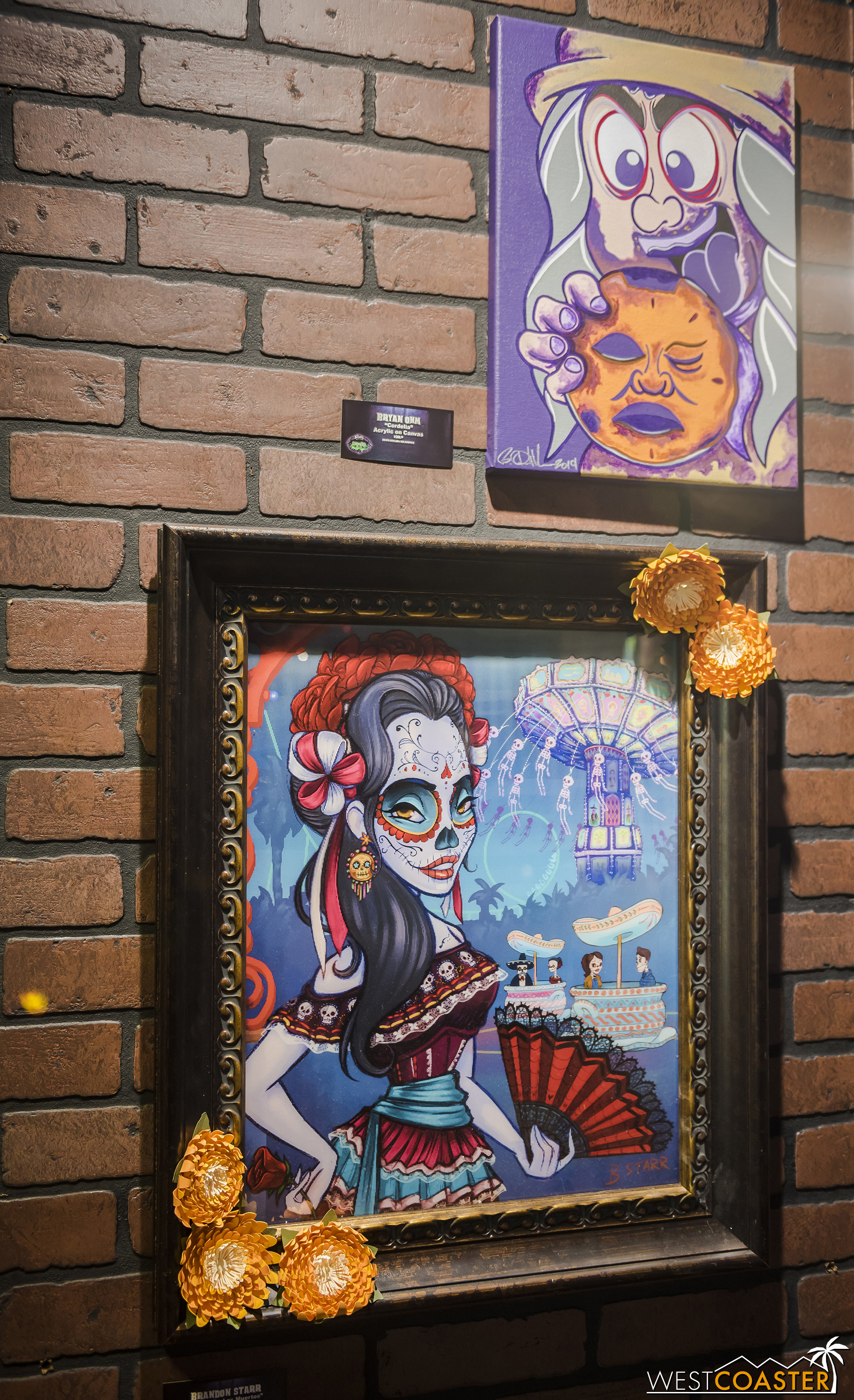 And this was cool.  Someone did a holographic piece themed to Fiesta de los Muertos!