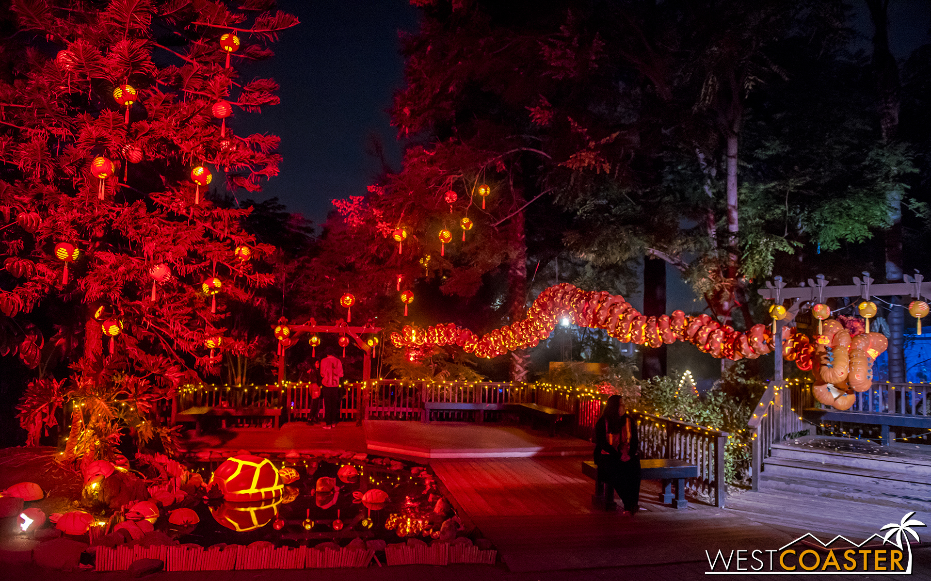One of seven sections in the Pumpkin Walk at Pumpkin Nights.