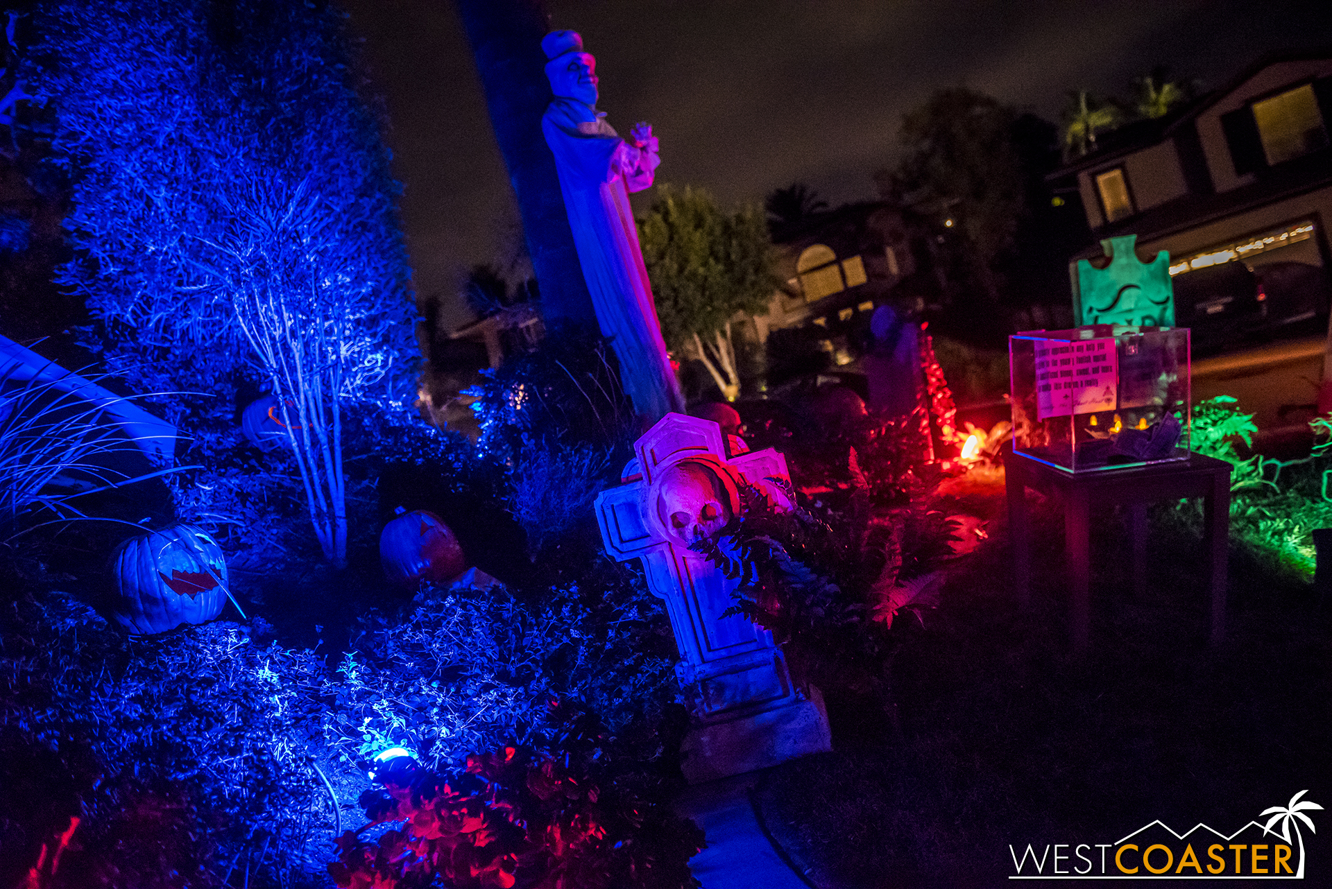 Fittingly for the ride's 50th anniversary, this fan tribute home haunted house/yard display will be back again this year.