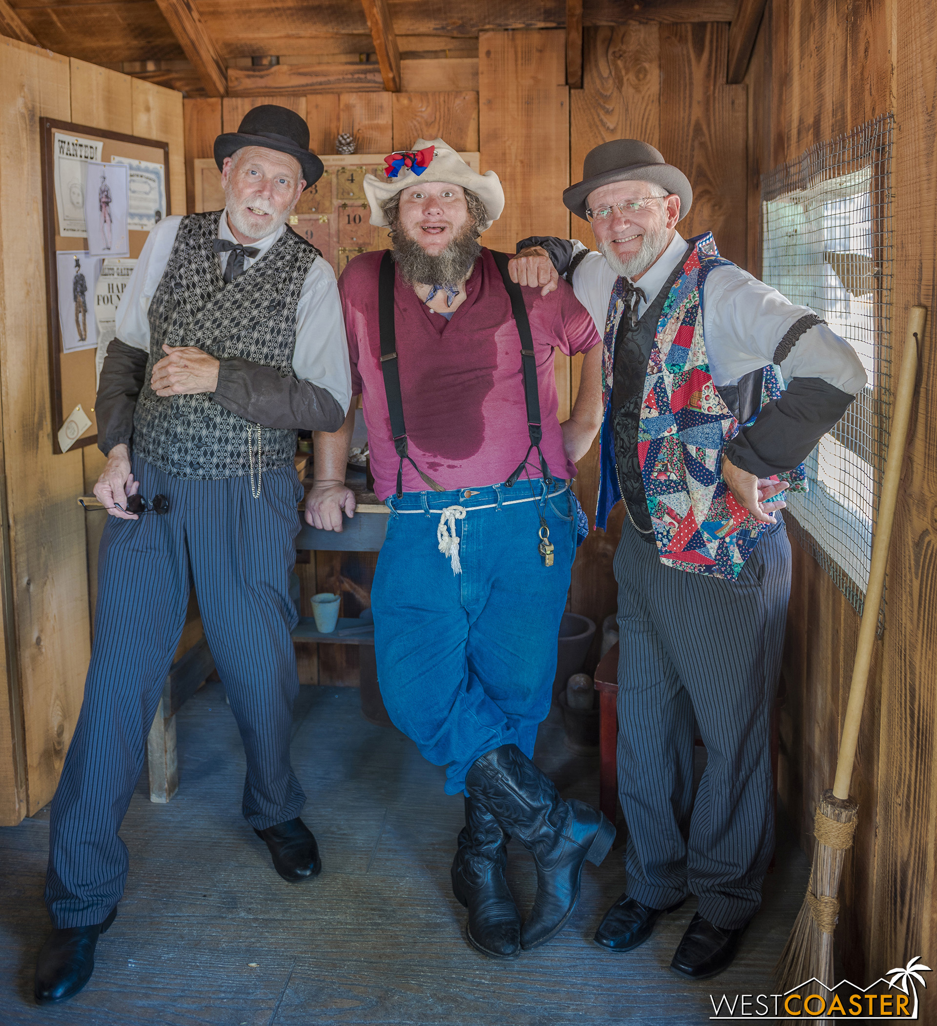 Left to right at the Assayer's Office: Augustus French, Flint Stahlek, and Zeke Connelly.