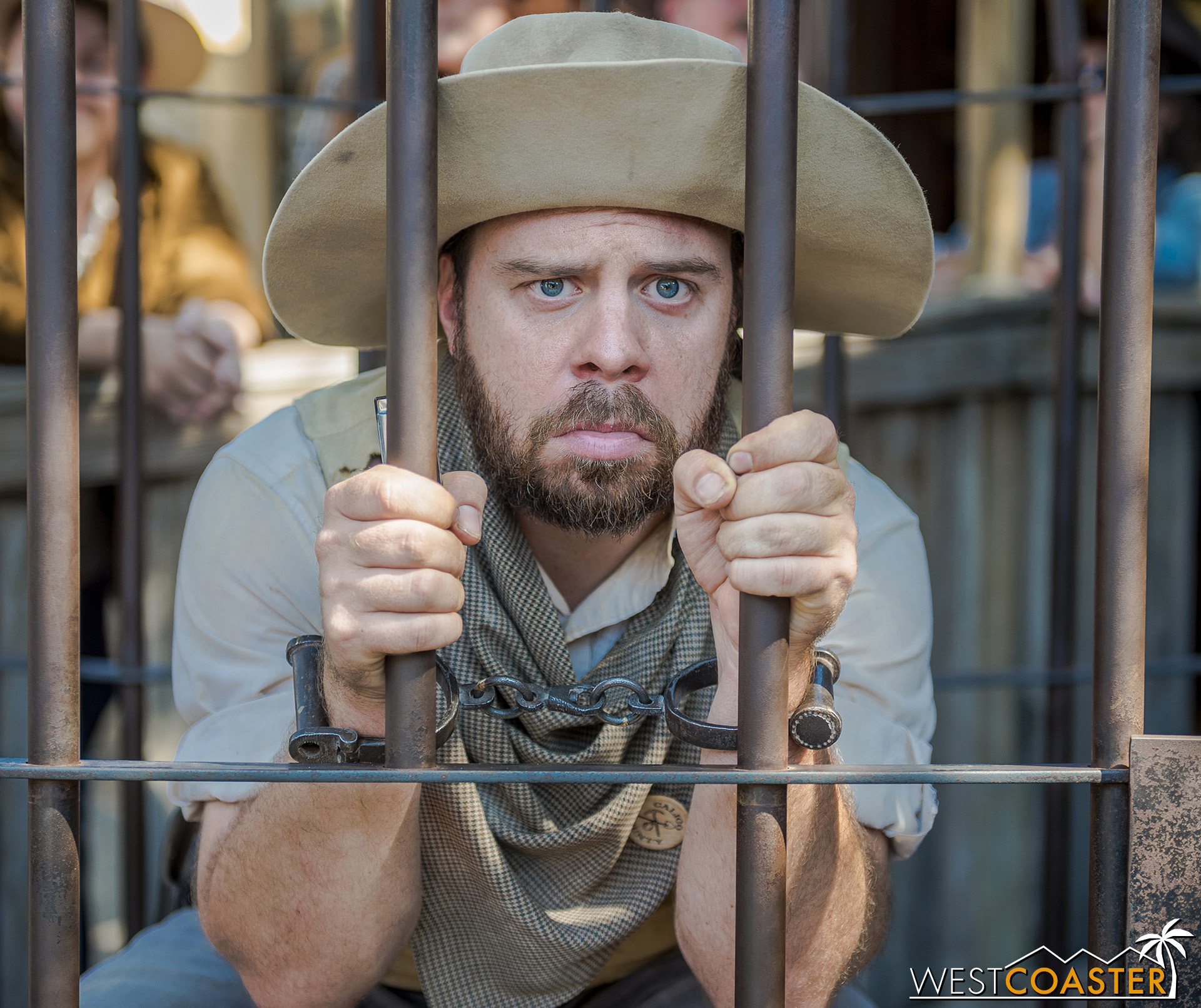 Clay's son, Tiny, often causing trouble or winding up in jail to look miserable.