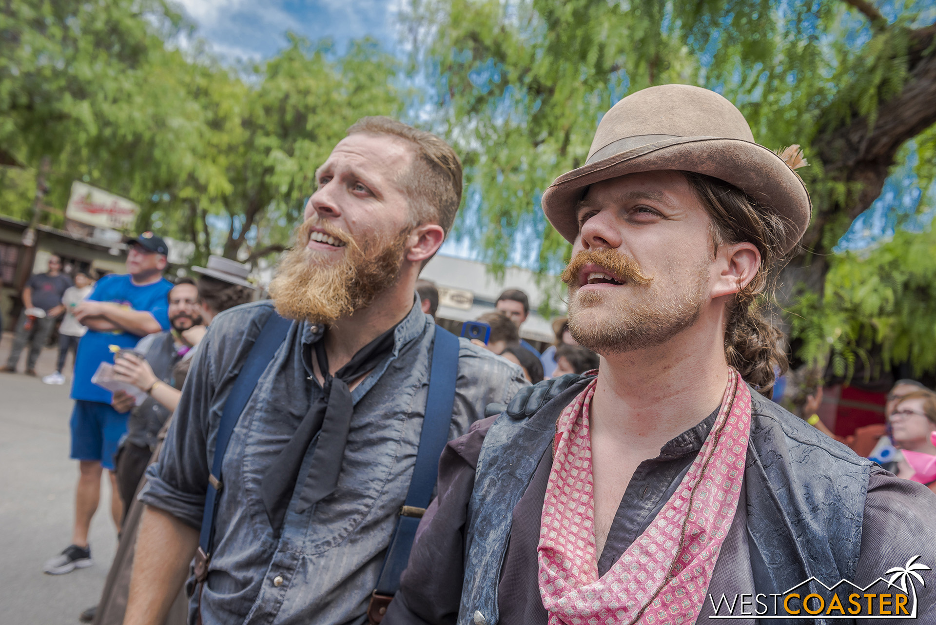 Fluke Mayfield, left, is the least involved with the family activities.  Scruff Mayfield, right, continues to help in the Mayfield escapades only to be captured and forced to call the Founder's Day Hoedown every year.