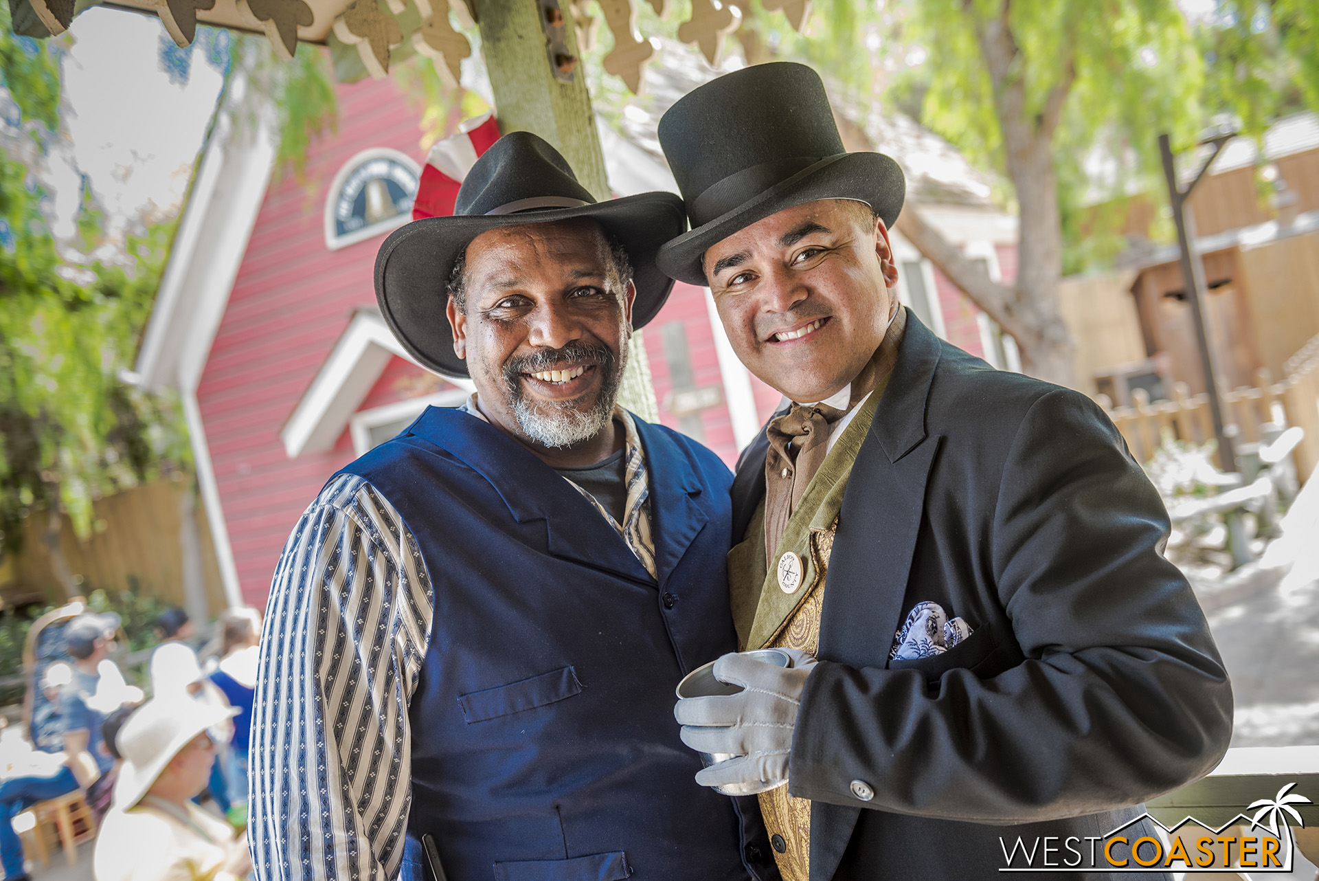 Mayor Parnell poses with Bernard, real-life Ghost Town Alive! stage manager.