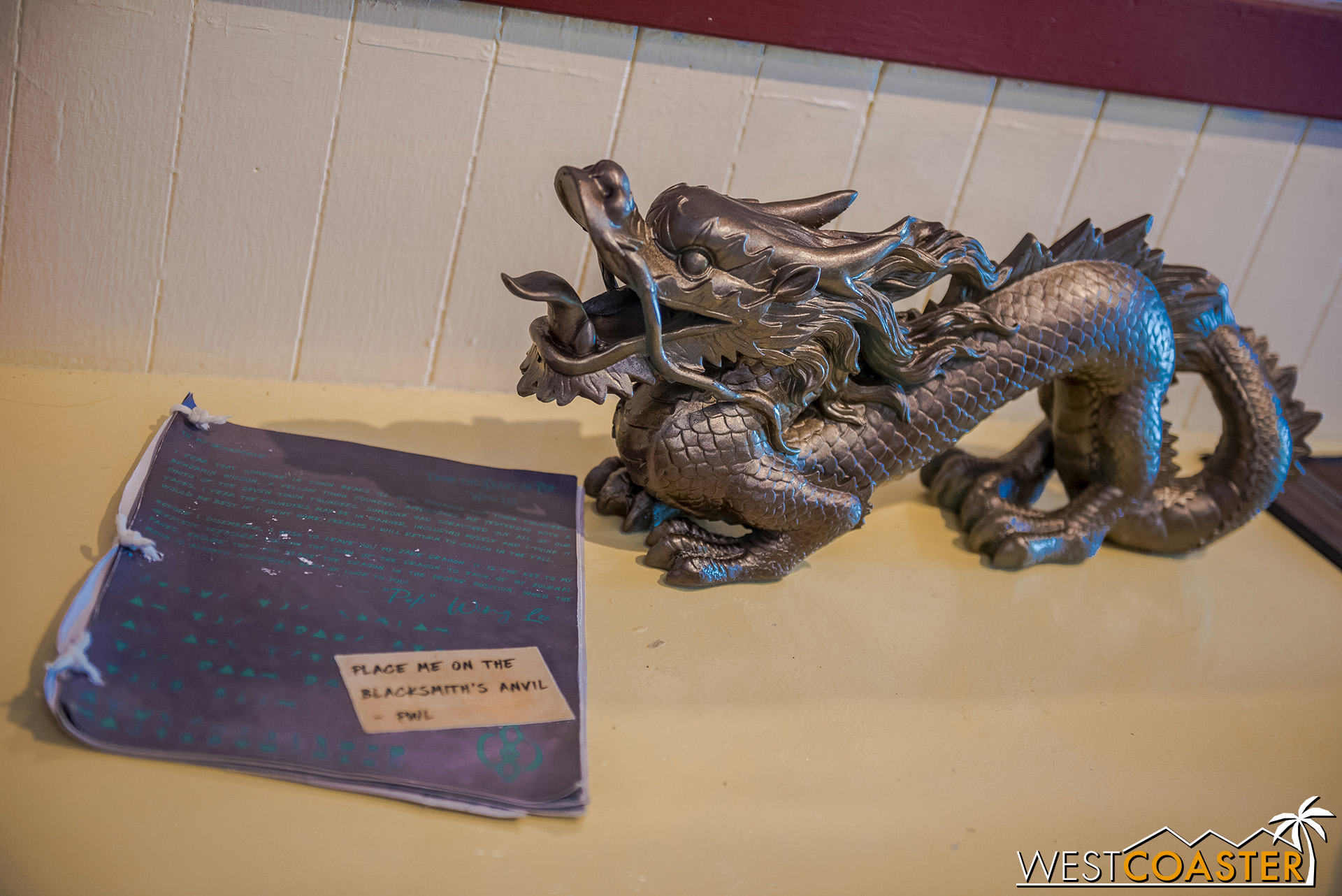The jade/gold dragon and a mystery book of coded messages!