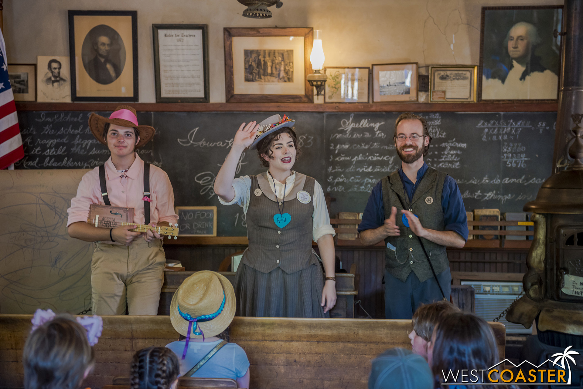 A lesson at the Schoolhouse.