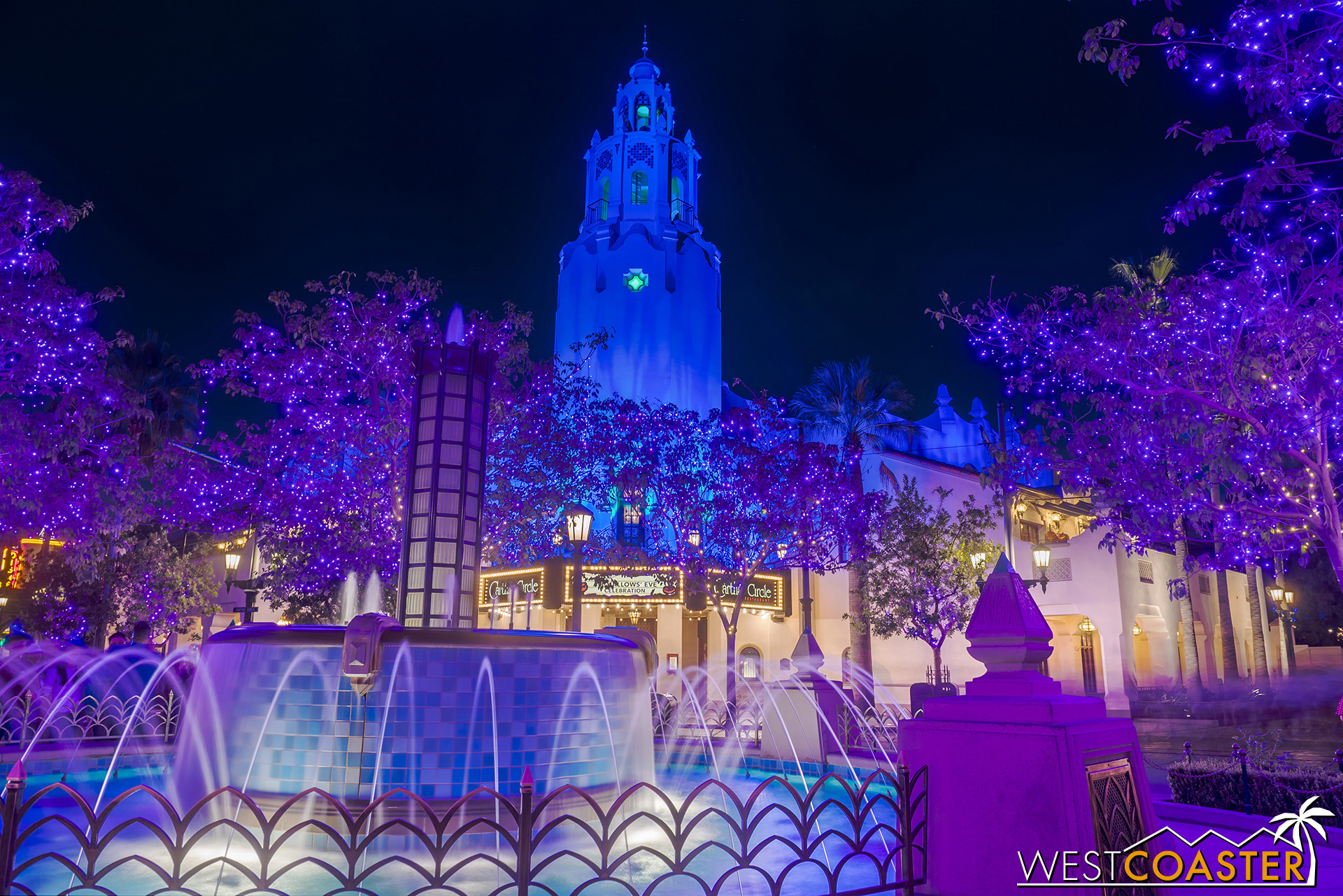 He's filled Carthay Circle and Buena Vista Street with as much odd lighting as possible.