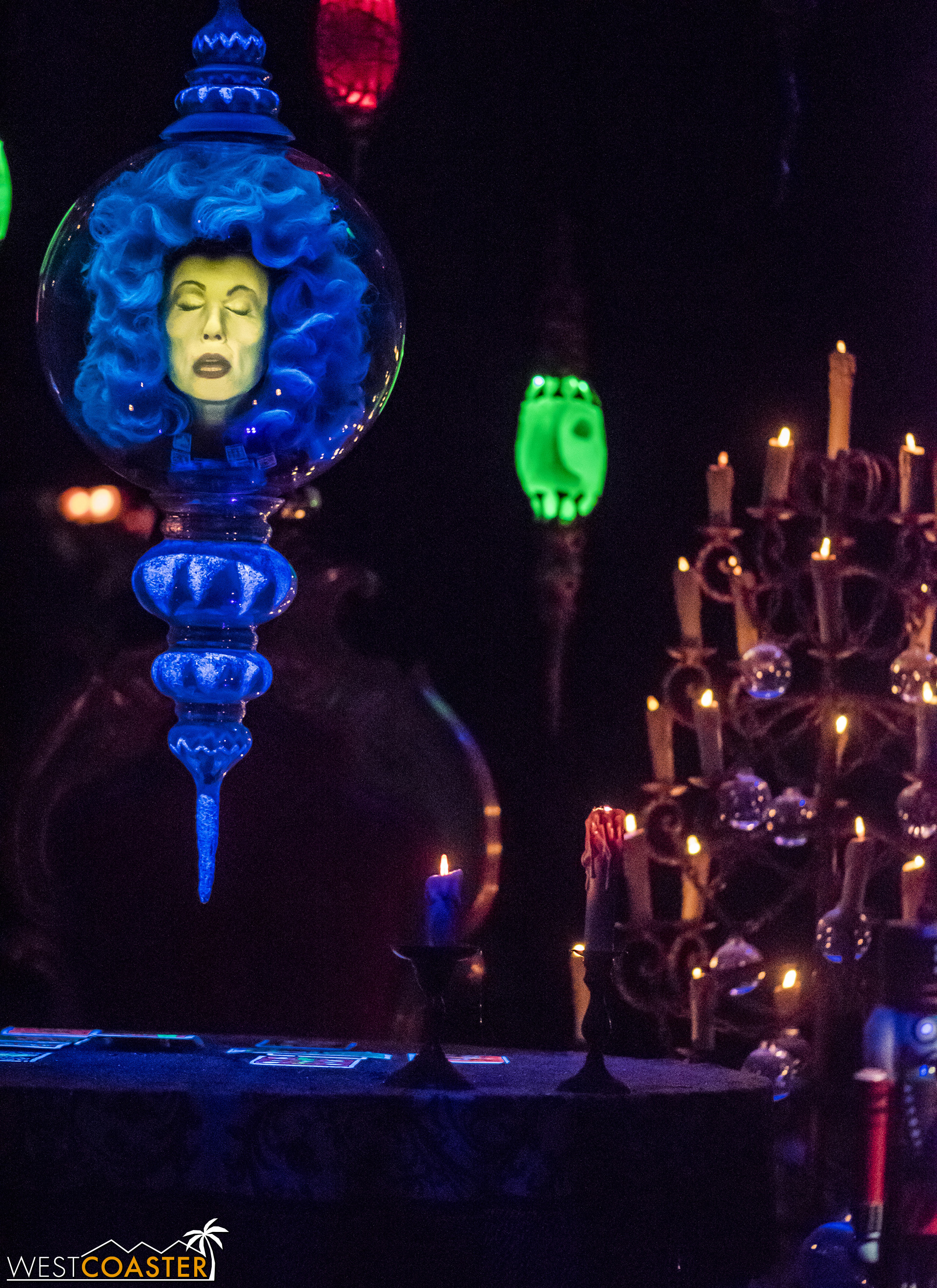 Madame Leota, hanging by a thread.