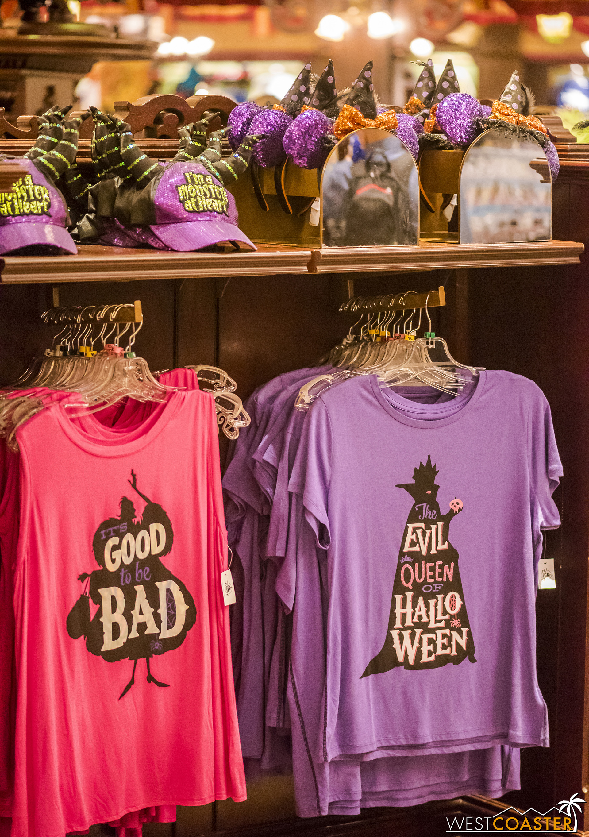 There is a ton of Halloween merchandise at Disneyland, including stuff apparently marketed toward millennials culture?