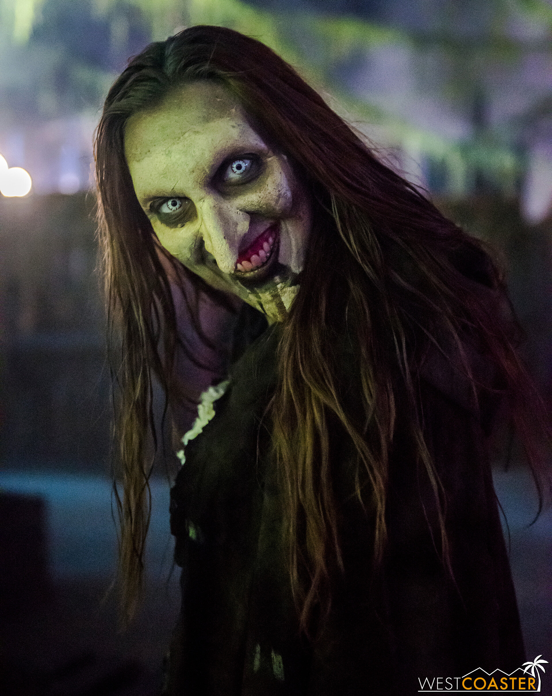A hag flashes a sinister smile before retreating off into the shadows to claim more victims.