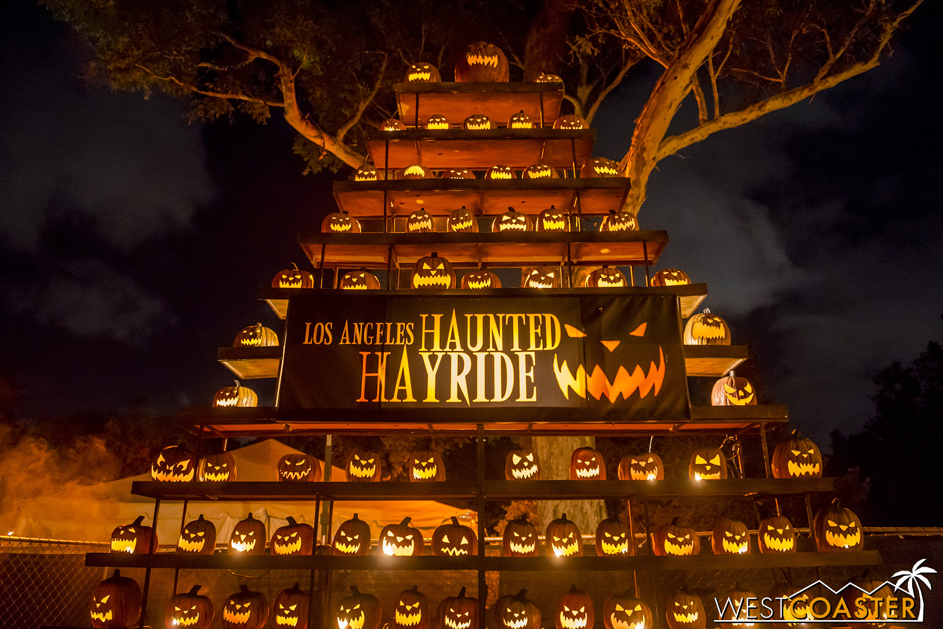 The L.A. Haunted Hayride's iconic tower of jack-o-lanterns remains unchanged, but pretty much everything else about this event has!