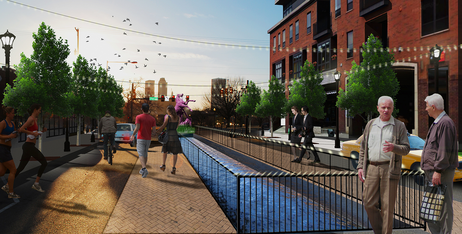 6th Street Infill Design for Tulsa – Perspective