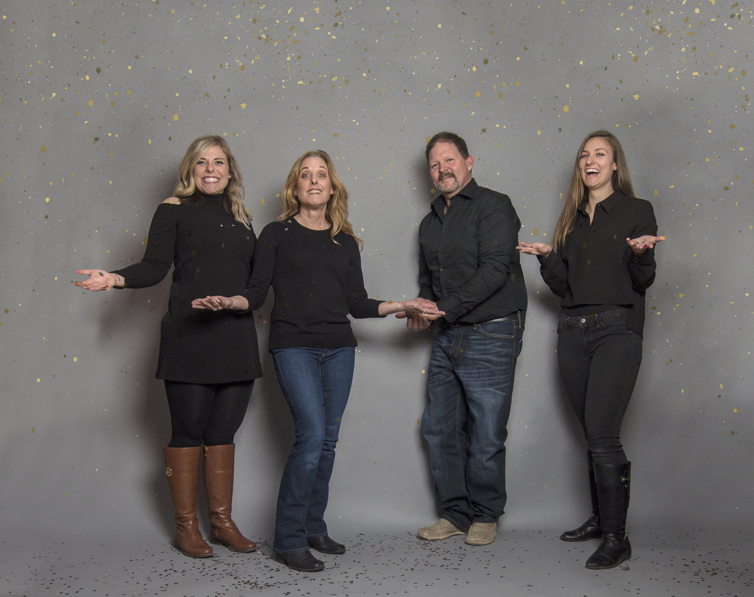 Family Photography with Confetti...Could it get more fun?