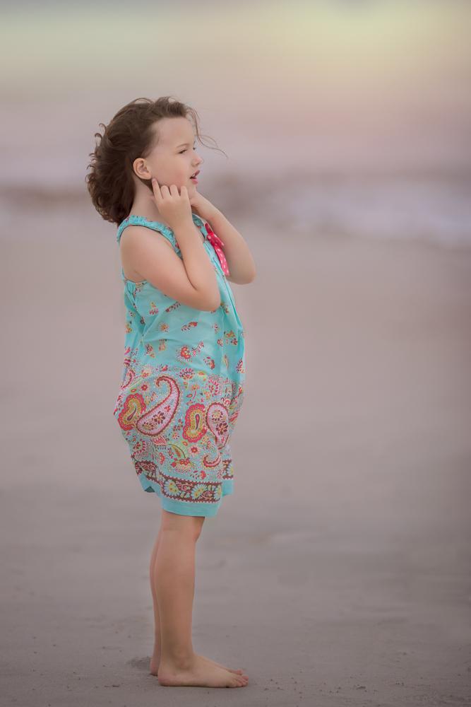 Beautiful Girl standing on Duxbury Beach