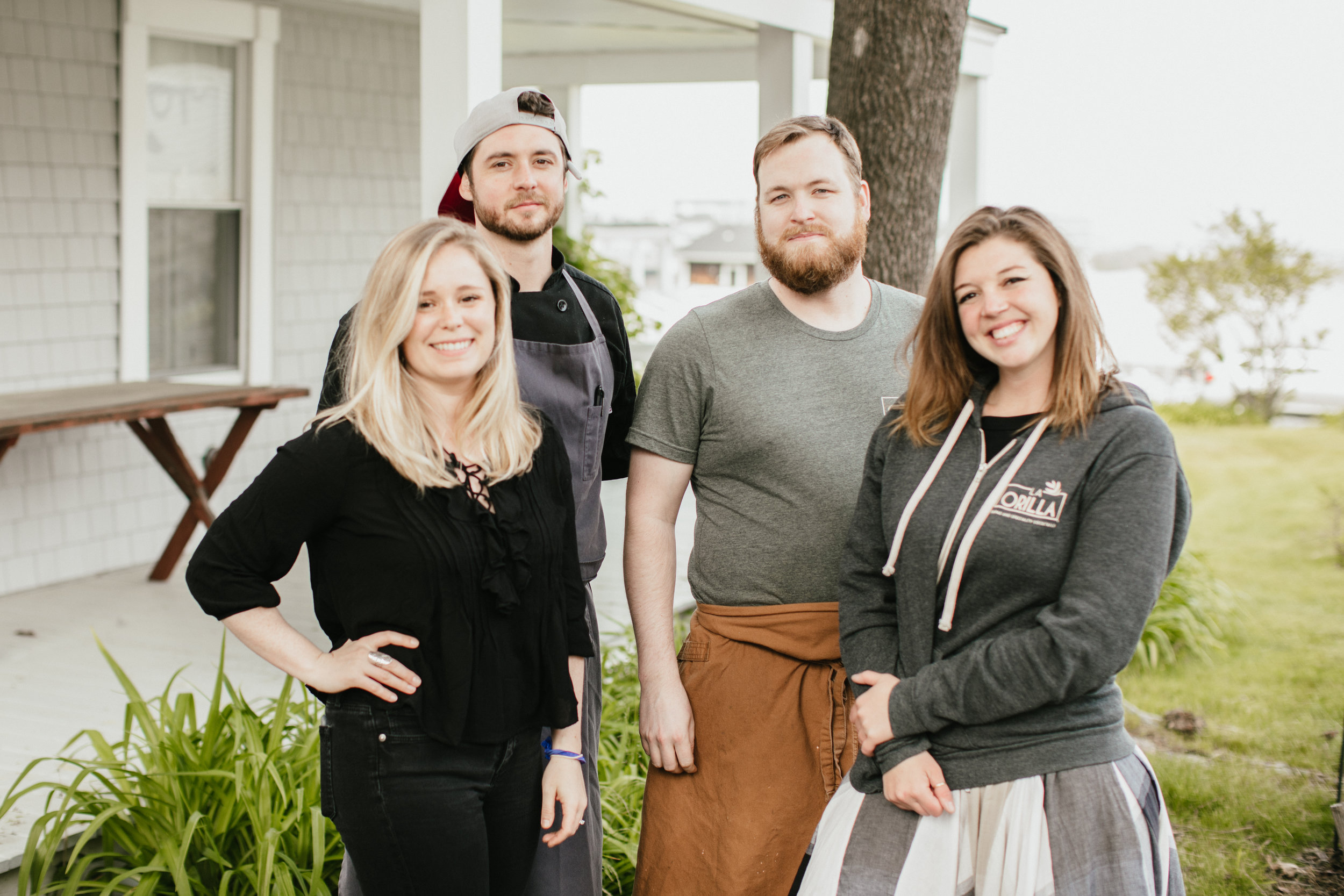 L to R: Karli Stempel, Marketing Coordinator } Matt Haight, Executive Chef | Steve Bolger, Sous Chef | Alex Haight Director of Operations and FOH Manager