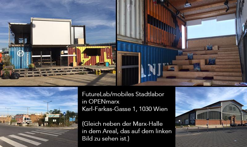 Mobiles Stadtlabor in Neu Marx einem Entwicklungsgebiet der WSE