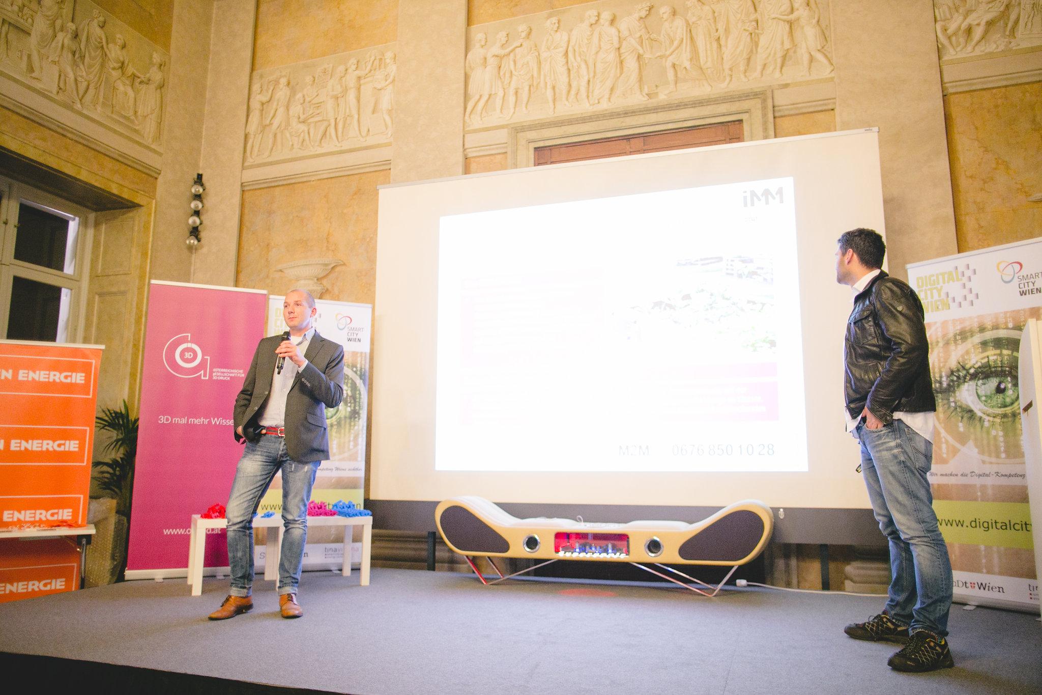 Manfred Czujan und Robert Veselka bei Best of Industry meets Makers 2016