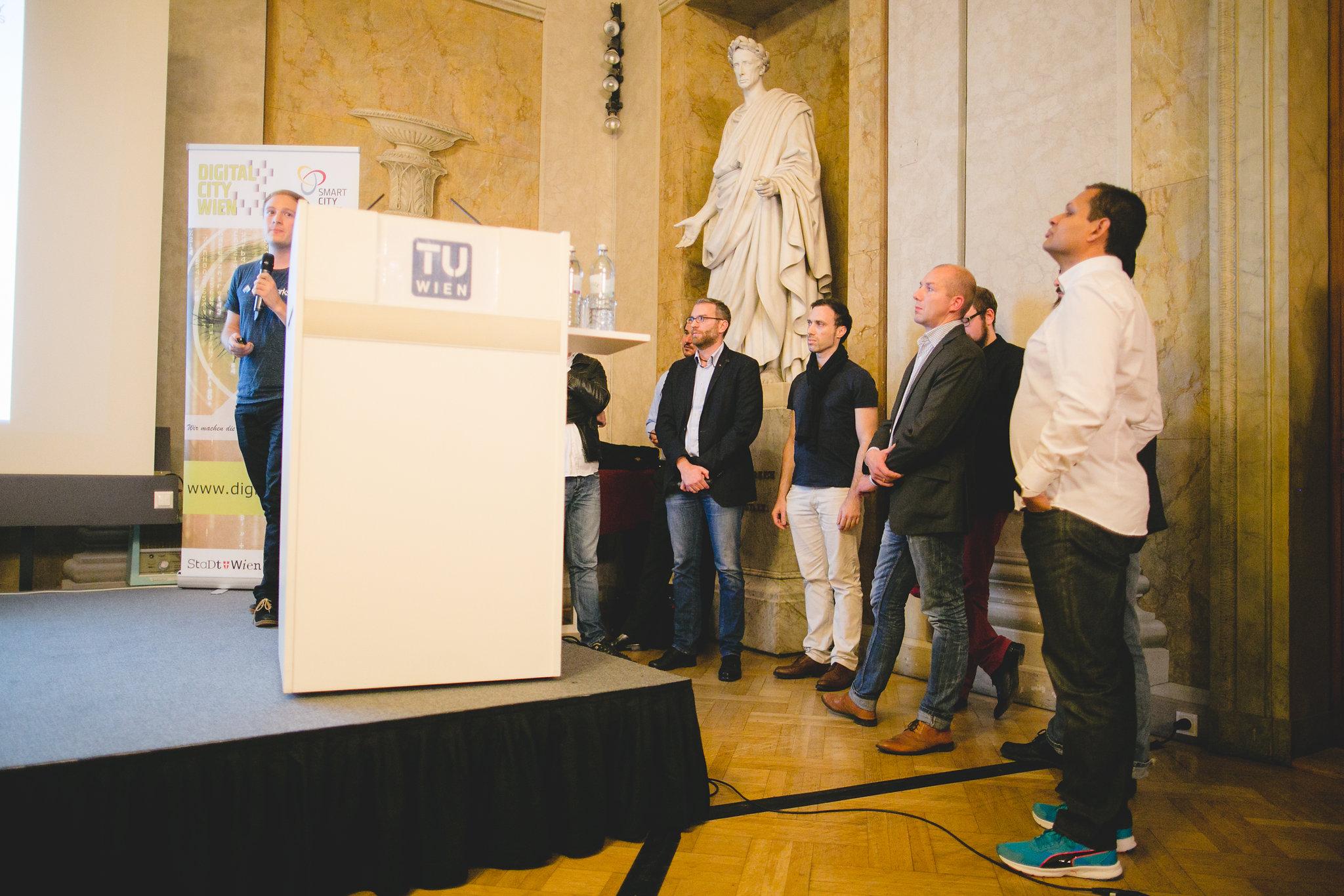 ganz rechts Alexander Ramseier bei Best of Industry meets Makers 2016