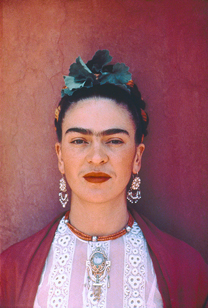 Frida Kahlo, by photographer Nickolas Muray