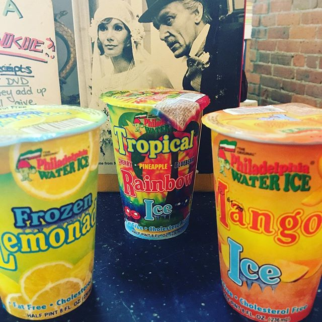 Now carrying #philadelphiawaterice for the summer! Only two bucks a pop. ☀️