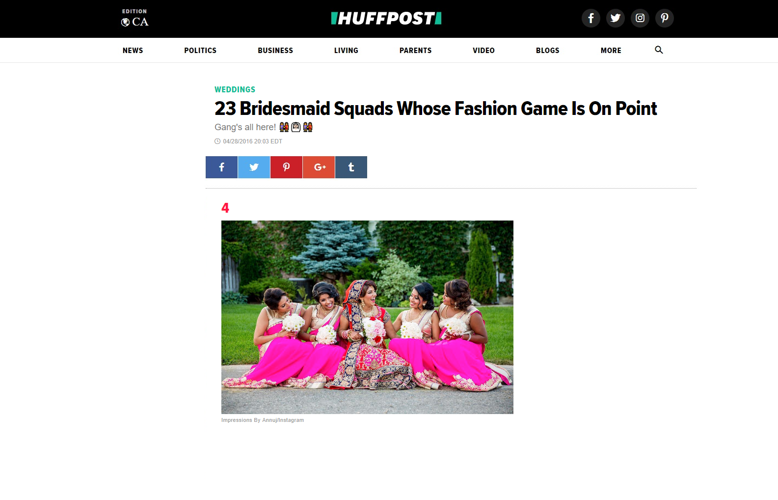 HuffPost Weddings Feature - 23 Bridesmaid Squads Whose Fashion Game Is On Point
