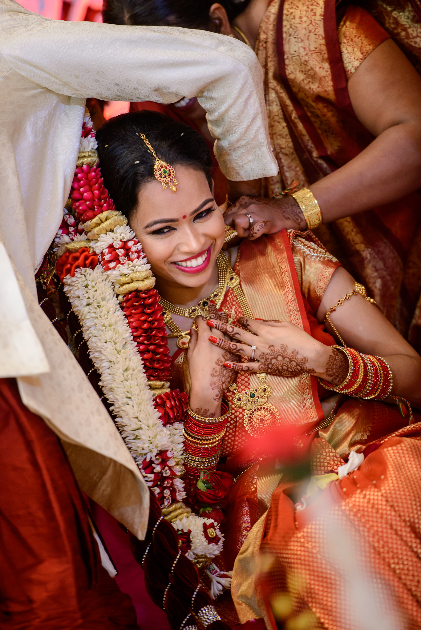 A smile is absolutely the most beautiful thing you can wear on your wedding day and ensures the best photos. A happy smile will always create happy photos, no matter what!