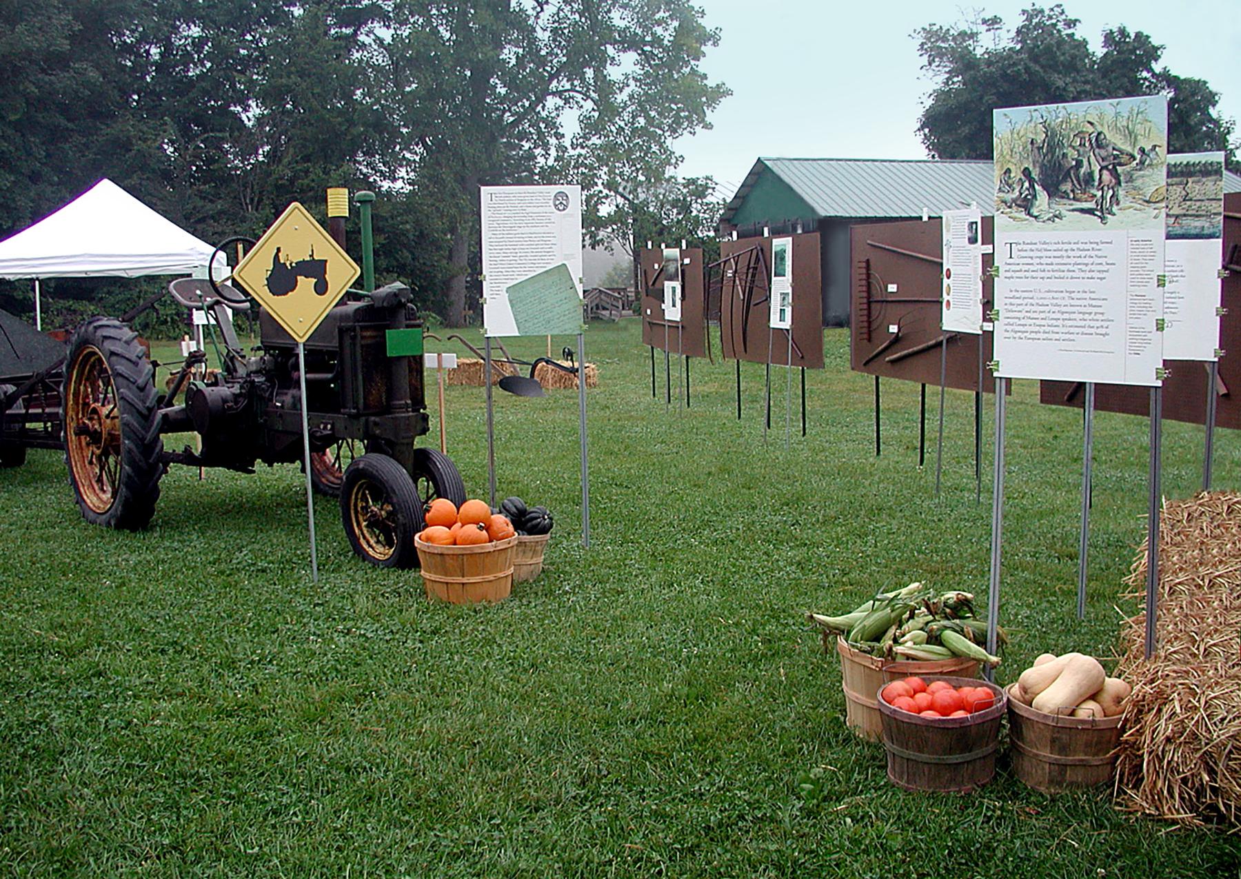 RVGA Local Farming History exhibit, Camp Epworth, 2006.